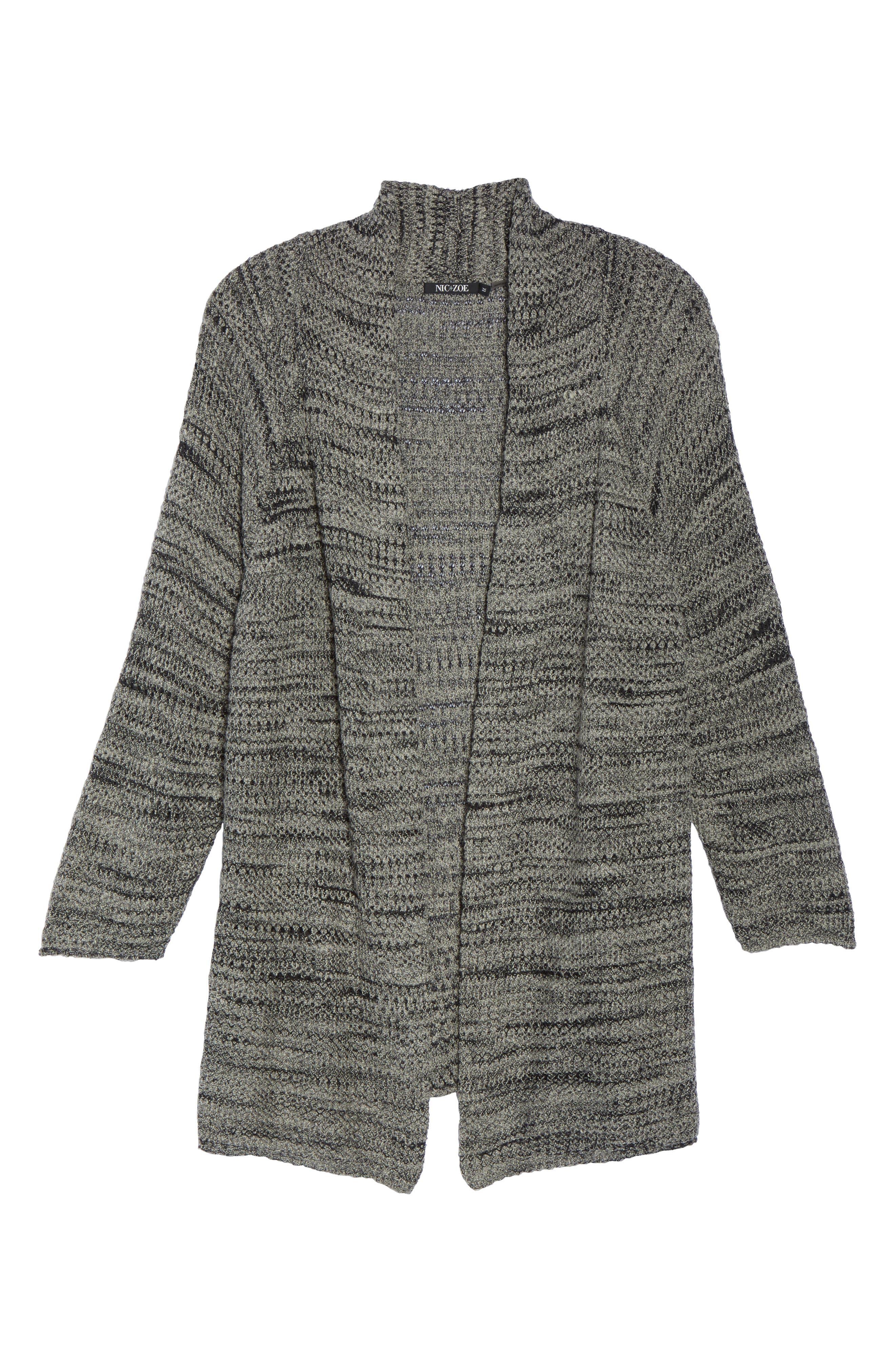 Alternate Image 6  - NIC+ZOE Thick & Thin Cardigan (Plus Size)