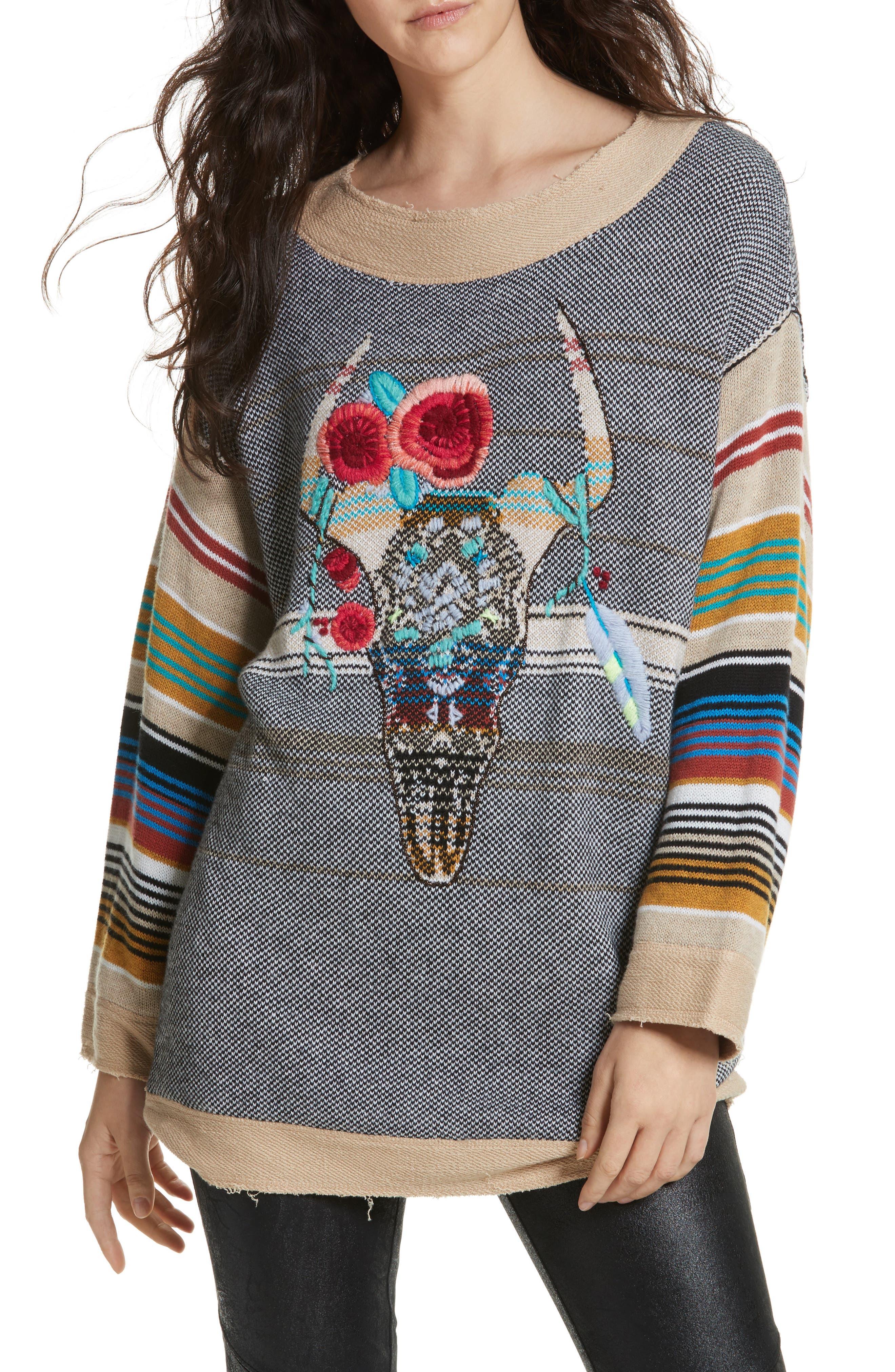 Desert Rose Sweater,                         Main,                         color, Multi