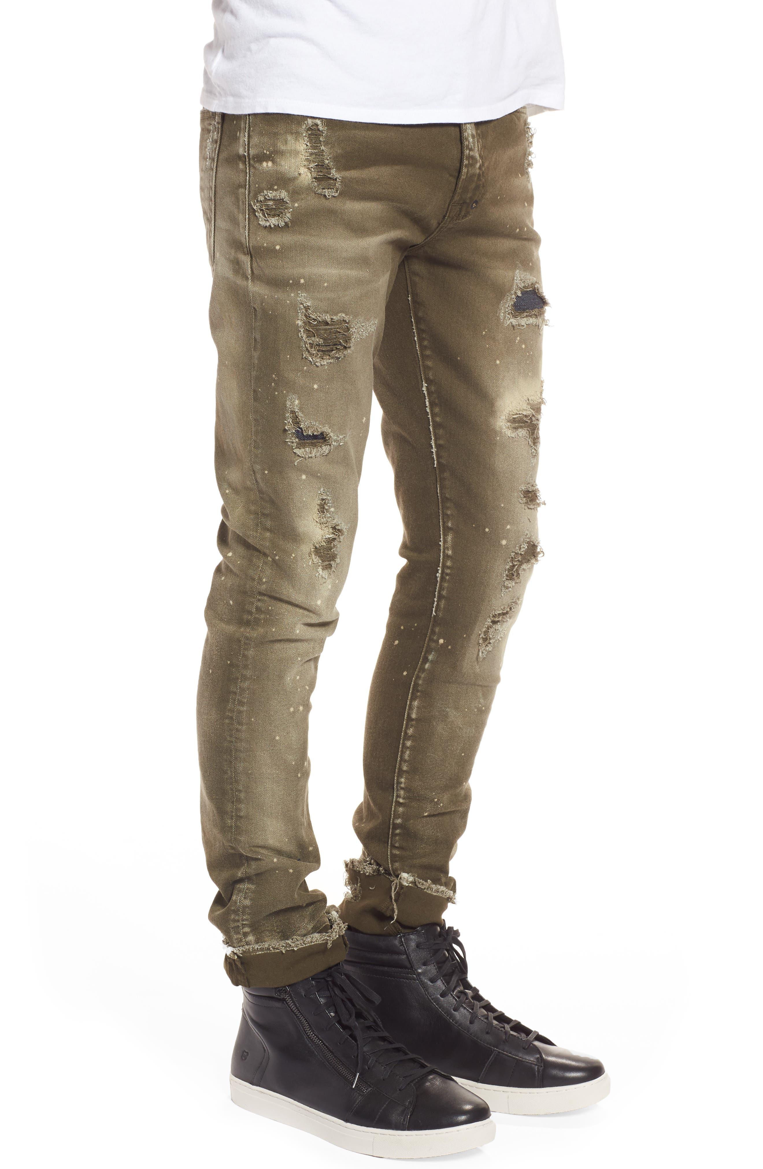 Demon Slim Straight Leg Jeans,                             Alternate thumbnail 3, color,                             Light