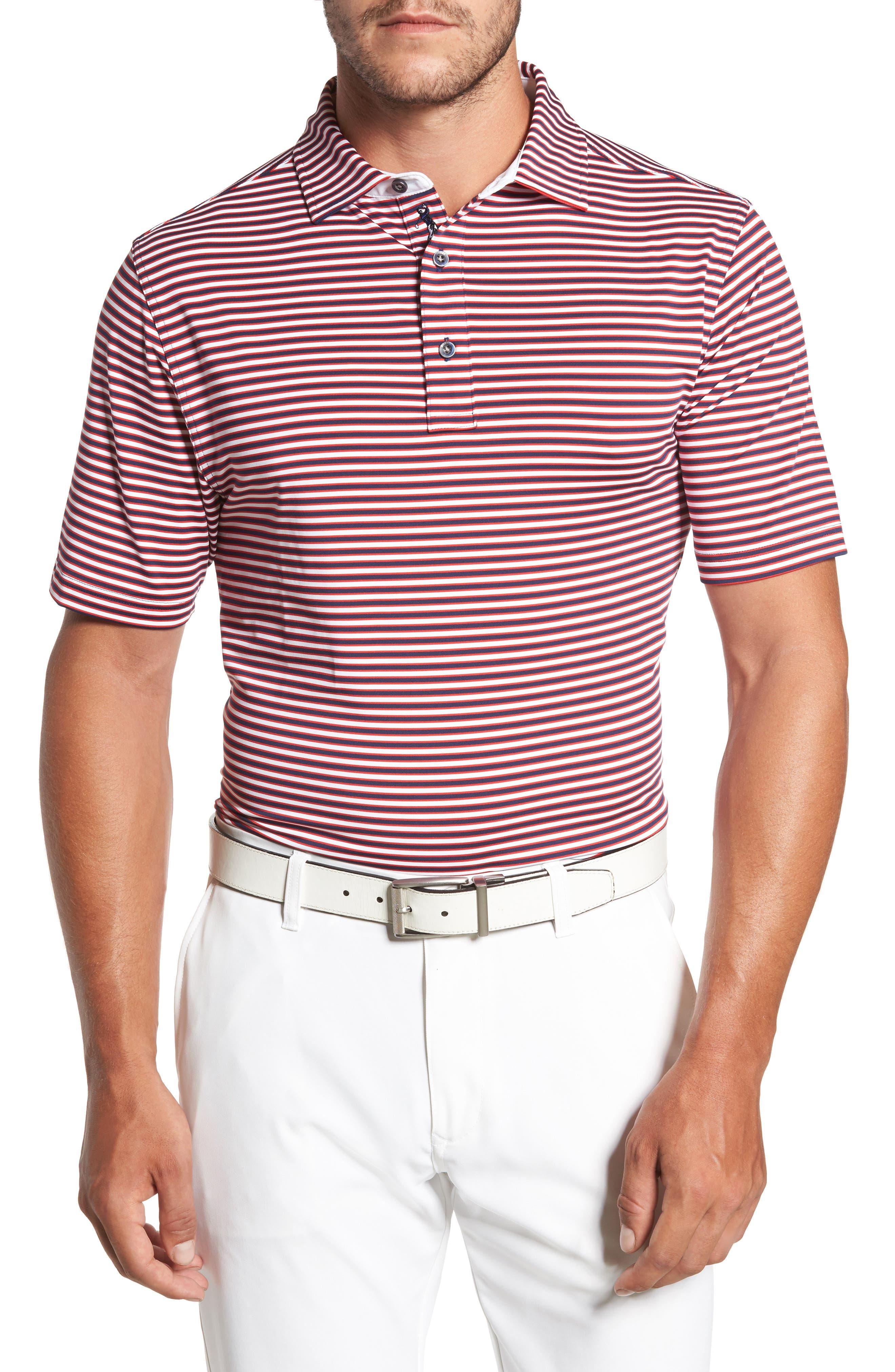 Bobby Jones XH20 Matzah Stripe Stretch Golf Polo