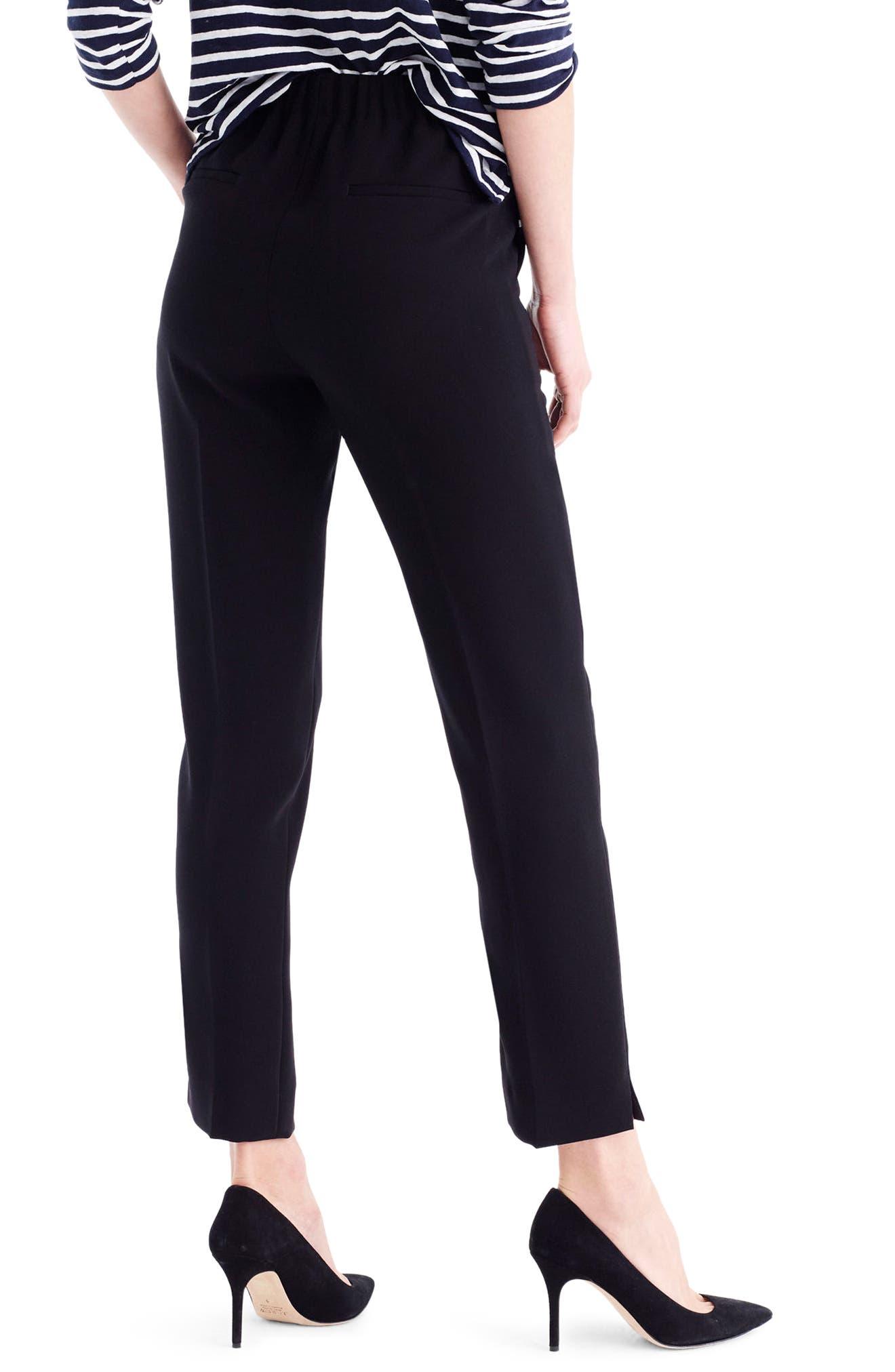 Alternate Image 2  - J.Crew New Easy Matte Crepe Pants (Regular & Petite)
