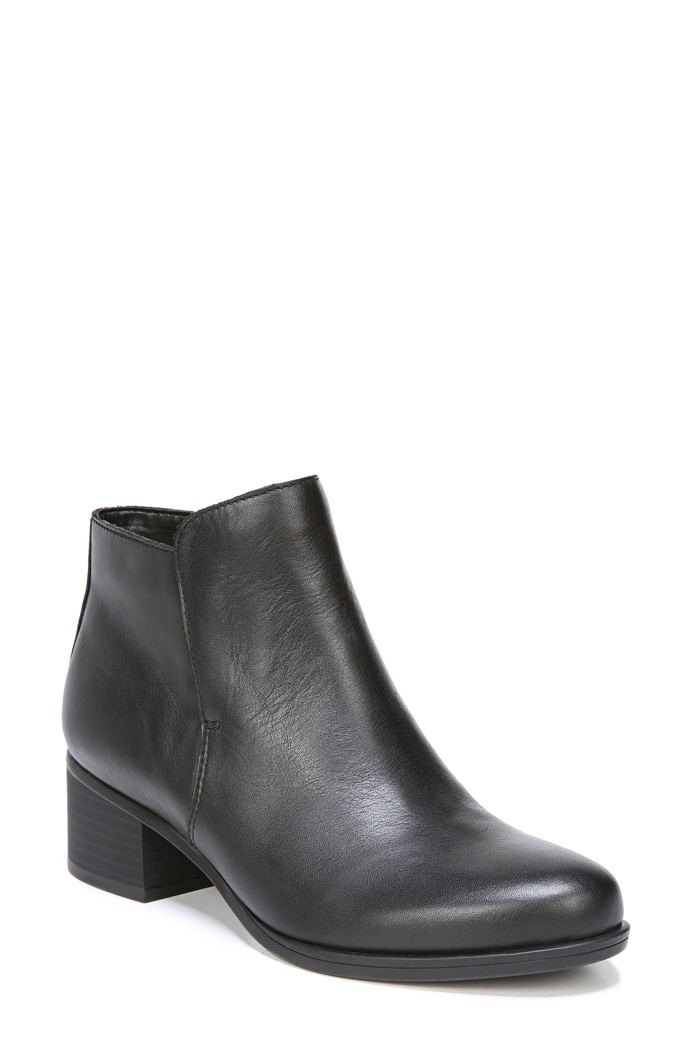 Dawson Waterproof Bootie,                             Main thumbnail 1, color,                             Black Leather