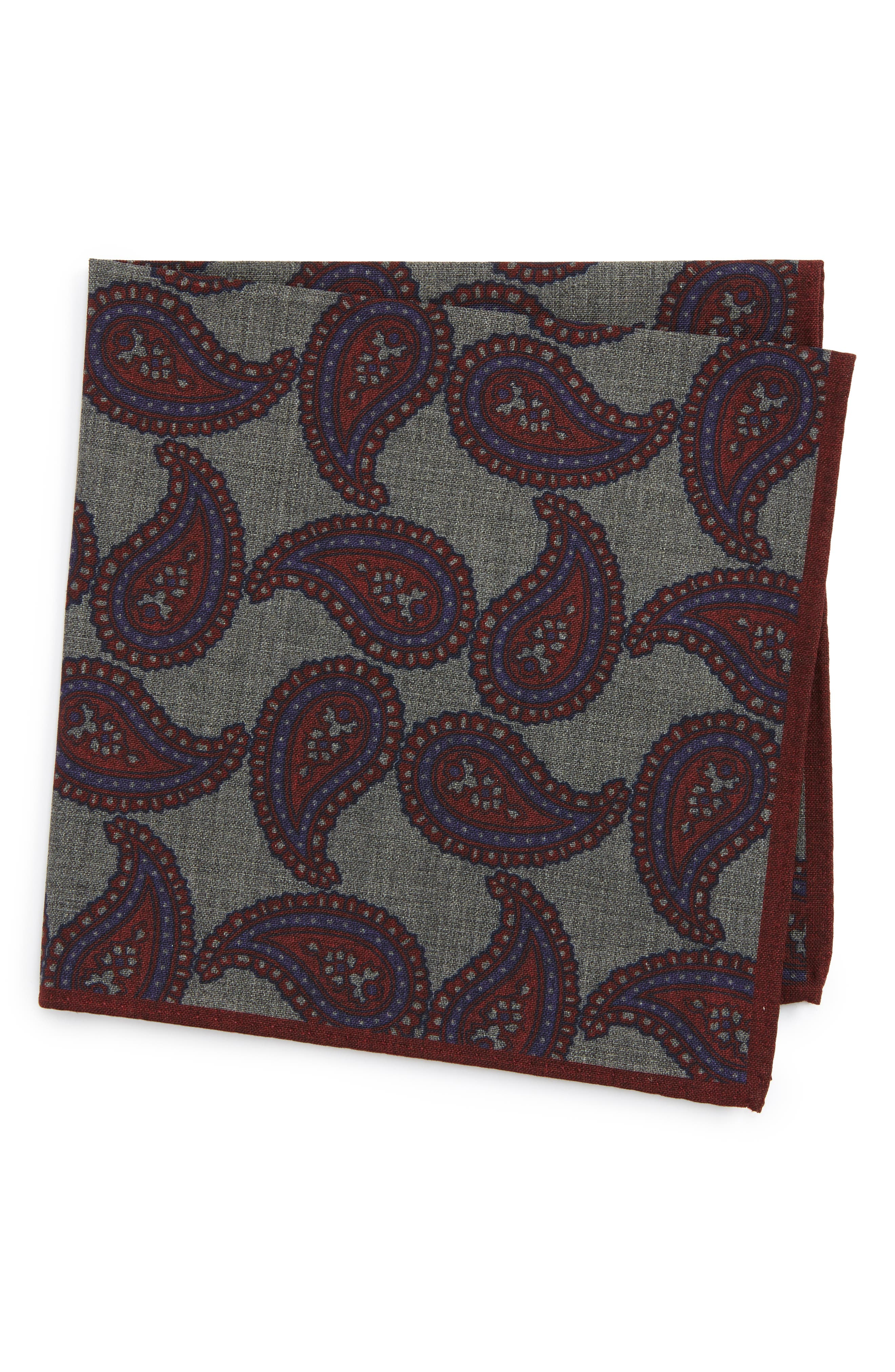 Alternate Image 1 Selected - Ted Baker London Paisley Wool Pocket Square