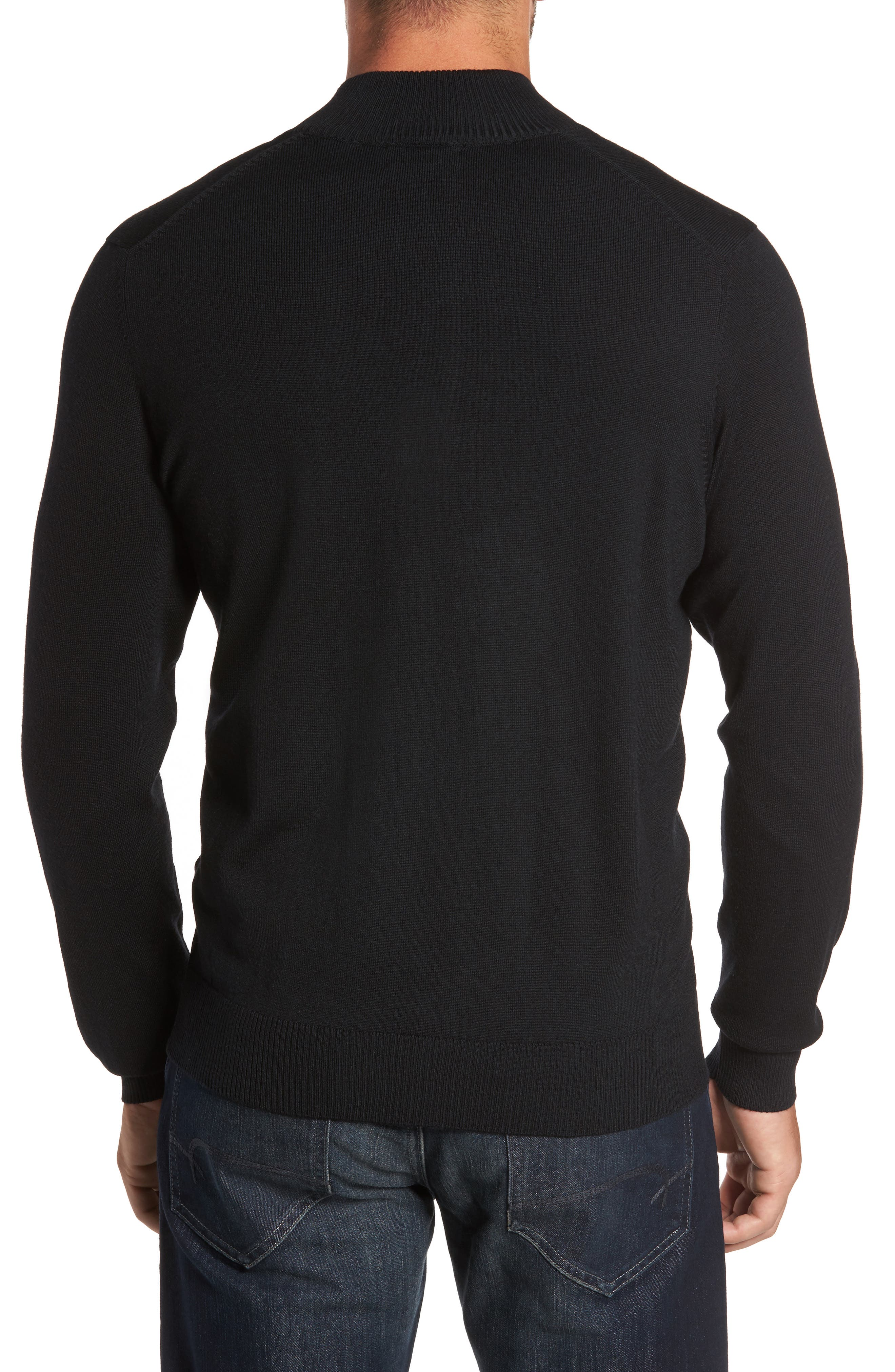 Alternate Image 2  - Thomas Dean Merino Wool Blend Mock Neck Sweater
