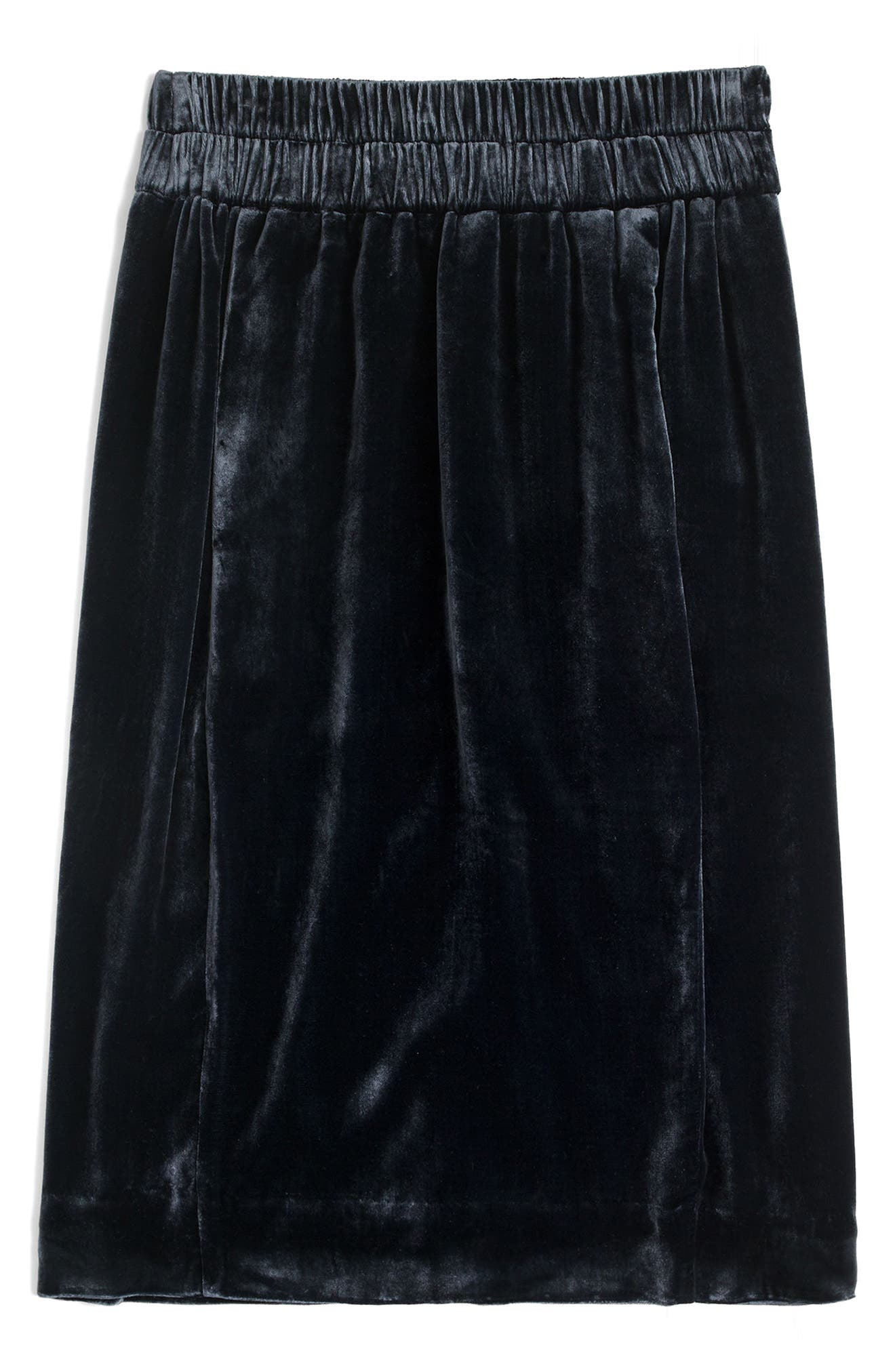 J.Crew Pull-On Velvet Skirt (Regular & Petite)
