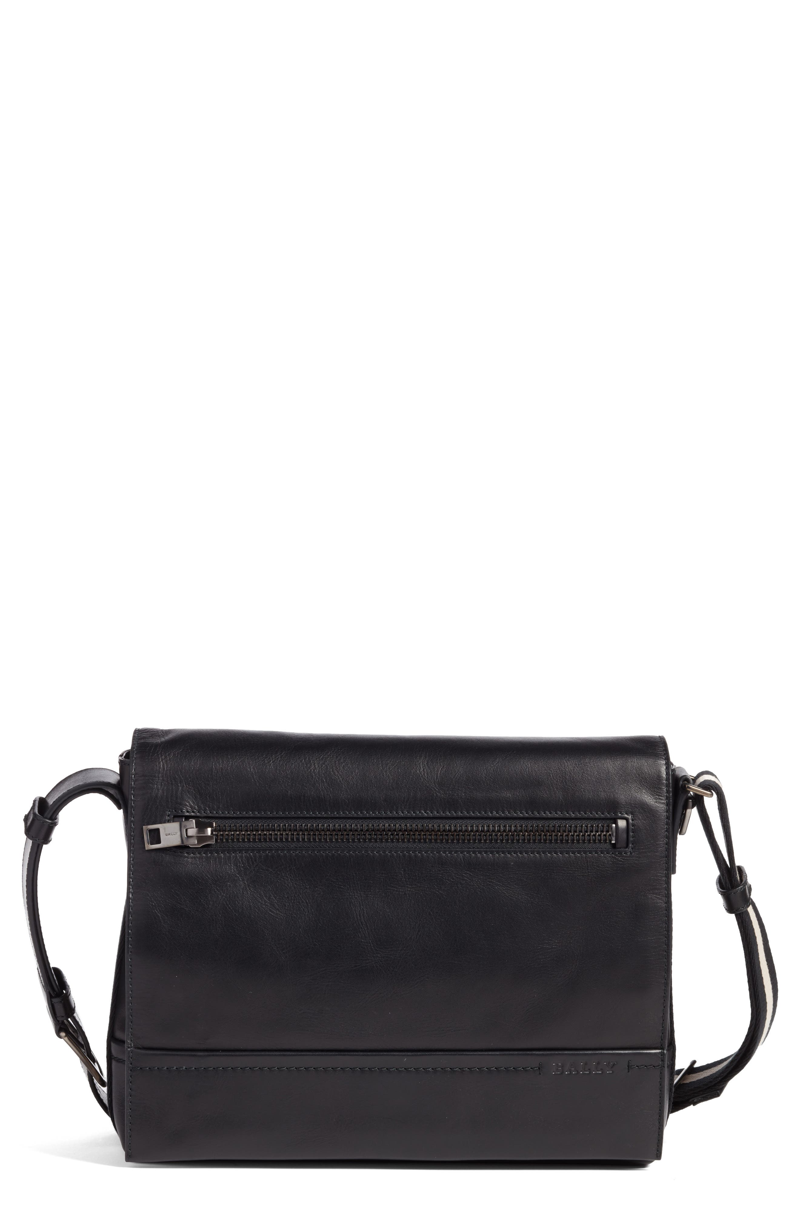 Main Image - Bally Tamrac Leather Messenger Bag