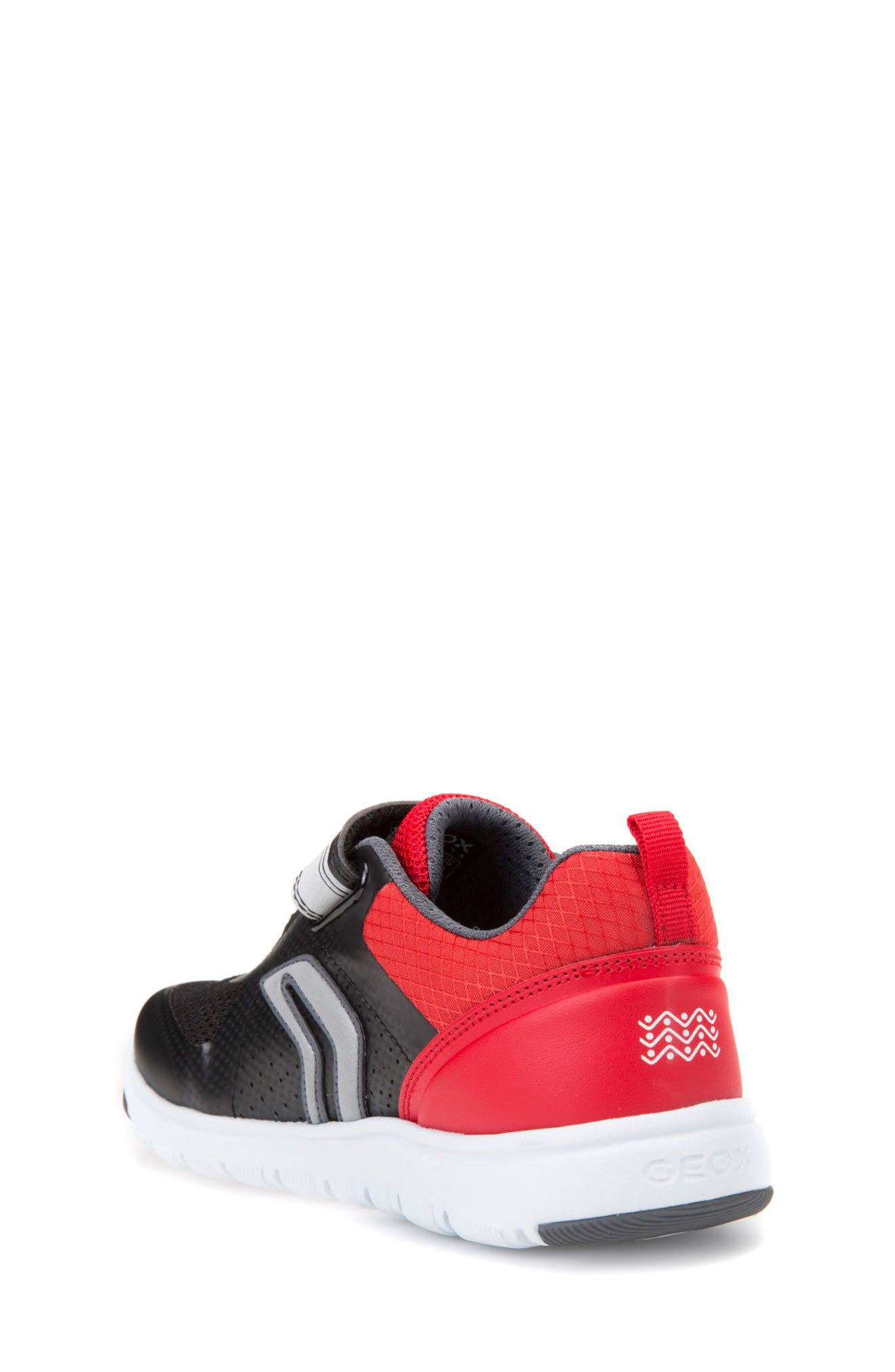 Xunday Low Top Sneaker,                             Alternate thumbnail 2, color,                             Black/ Red