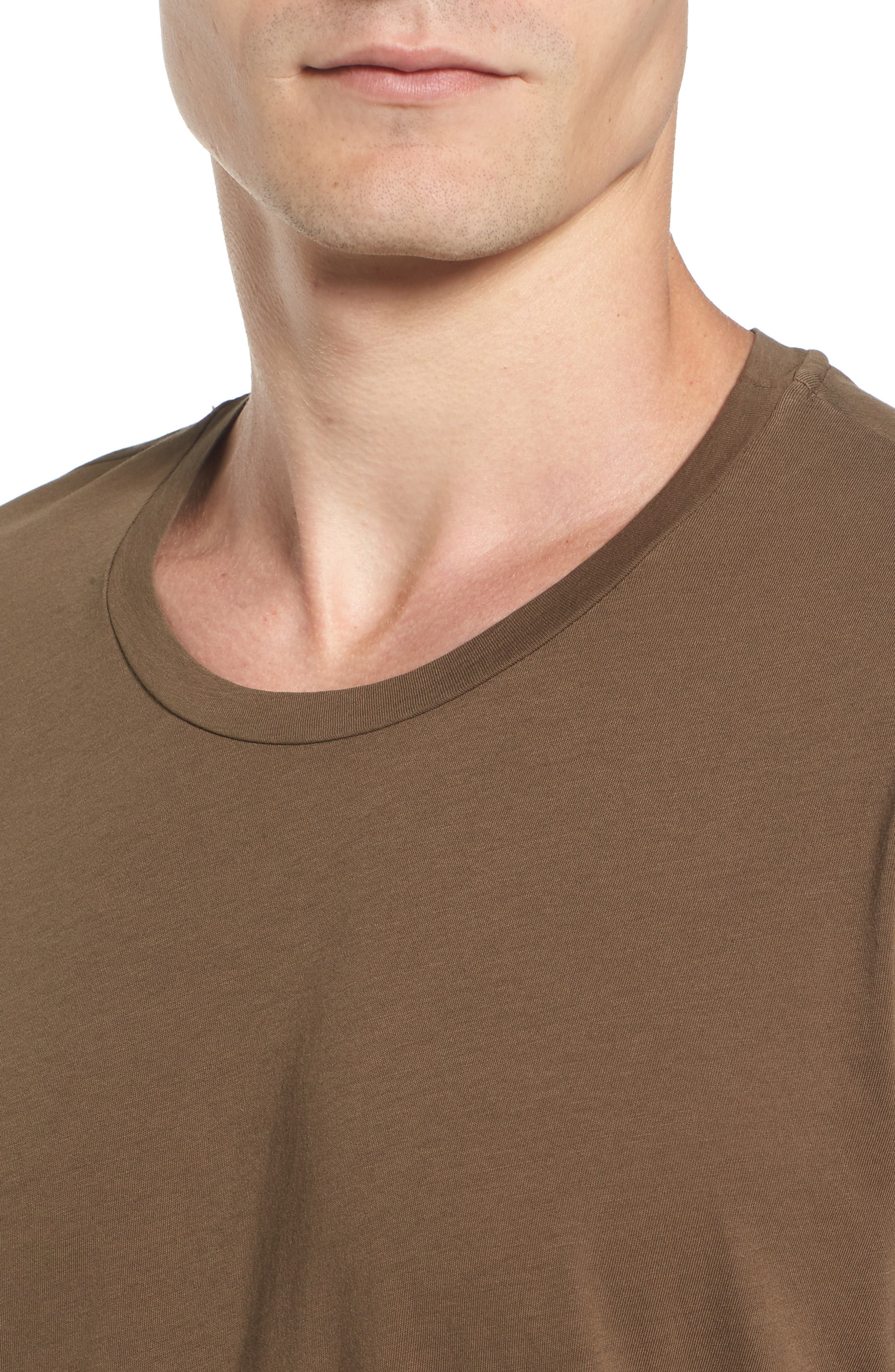 'Howard' Crewneck T-Shirt,                             Alternate thumbnail 4, color,                             Conifer