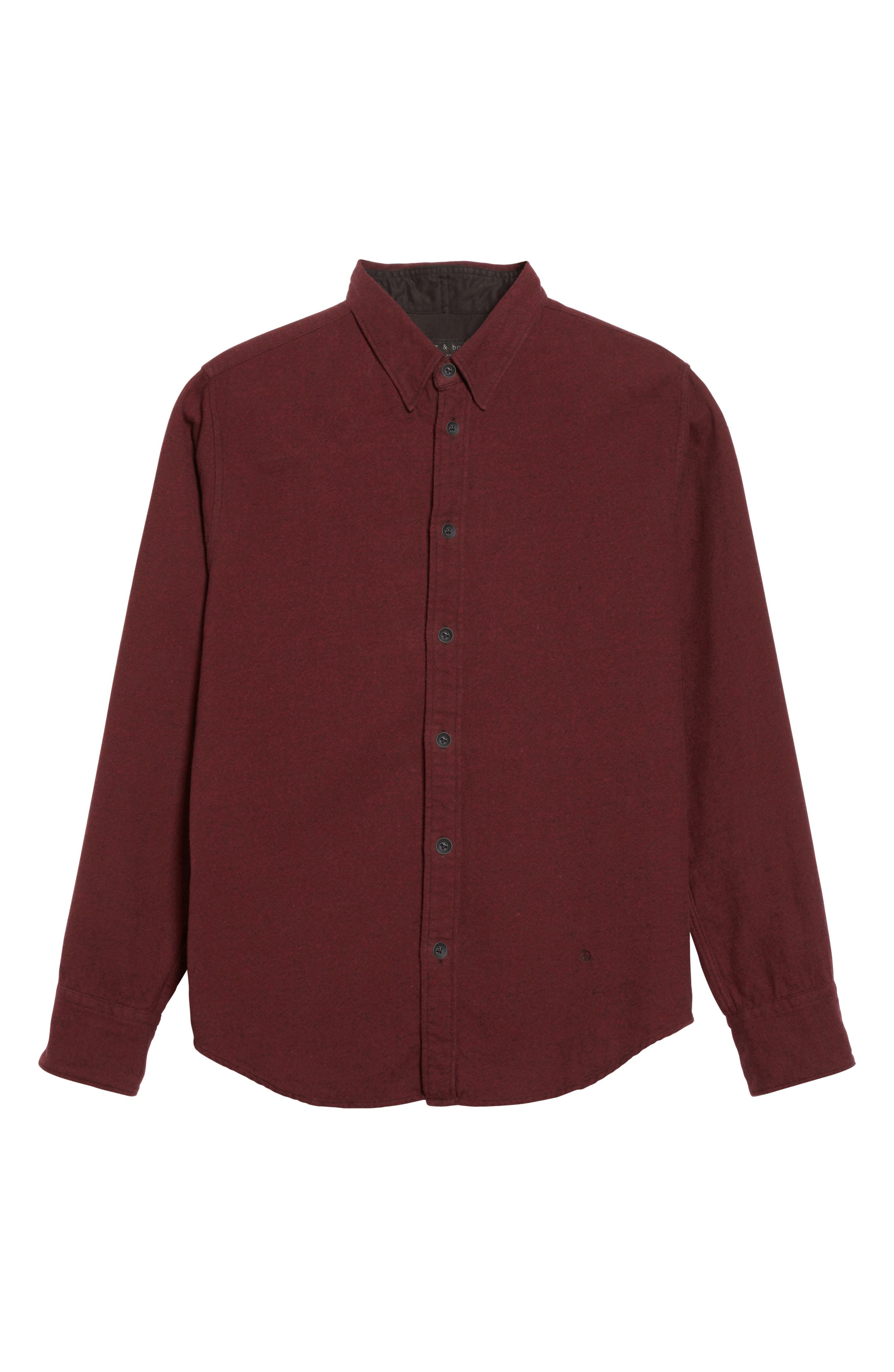 Fit 2 Base Woven Shirt,                             Alternate thumbnail 6, color,                             Burgundy