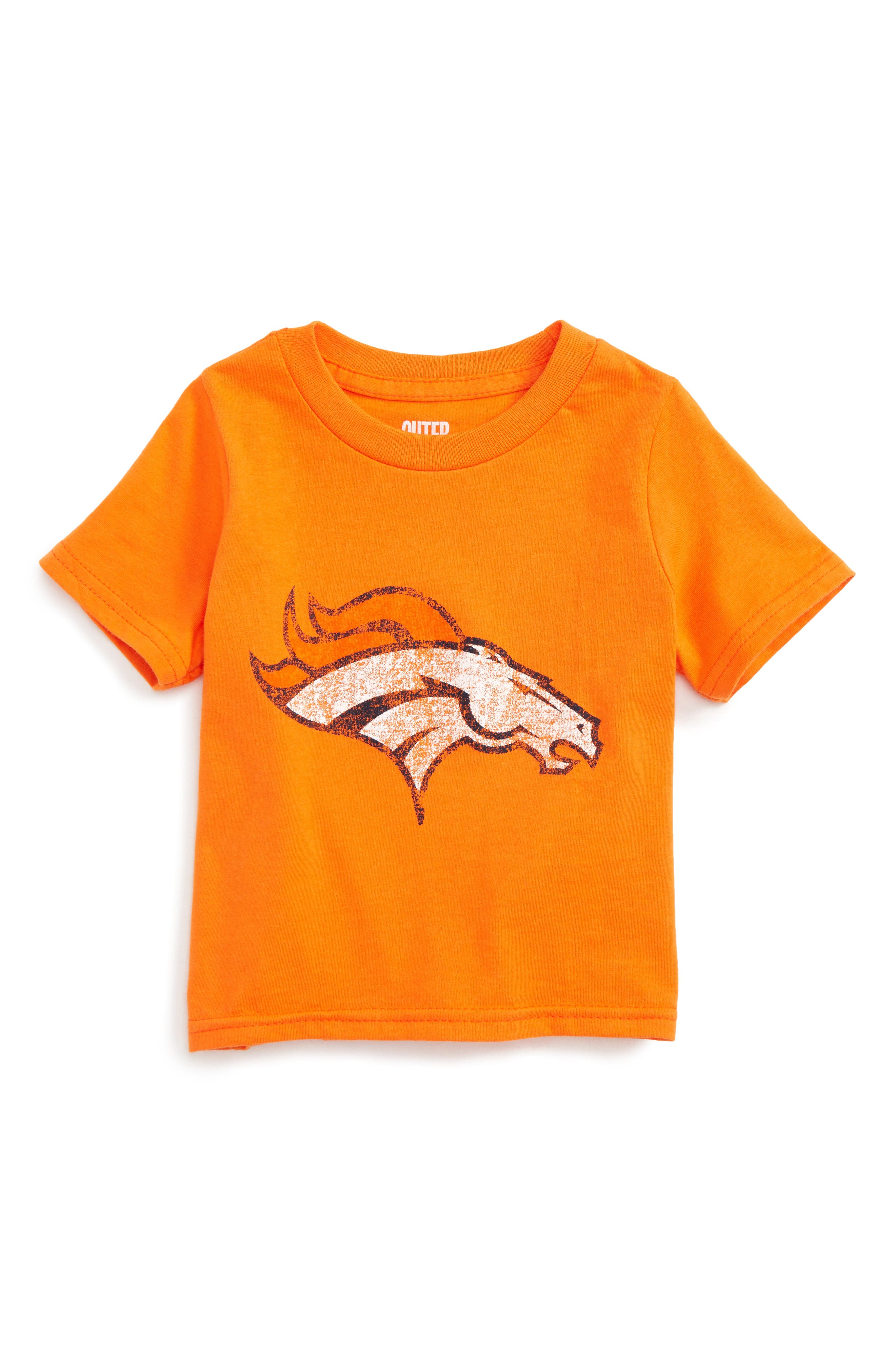 Alternate Image 1 Selected - Outerstuff NFL Denver Broncos Distressed Logo Graphic T-Shirt (Baby Boys)