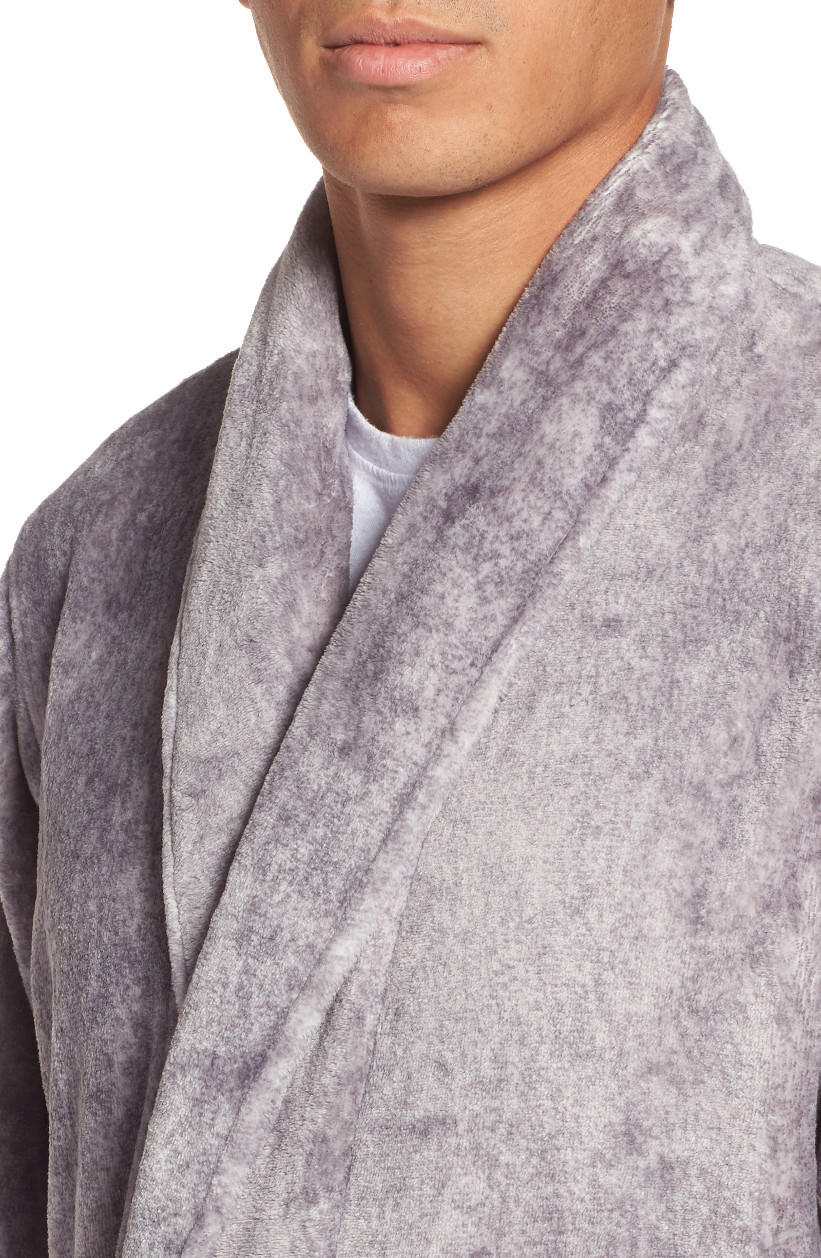 Alternate Image 4  - Nordstrom Men's Shop Heathered Fleece Robe