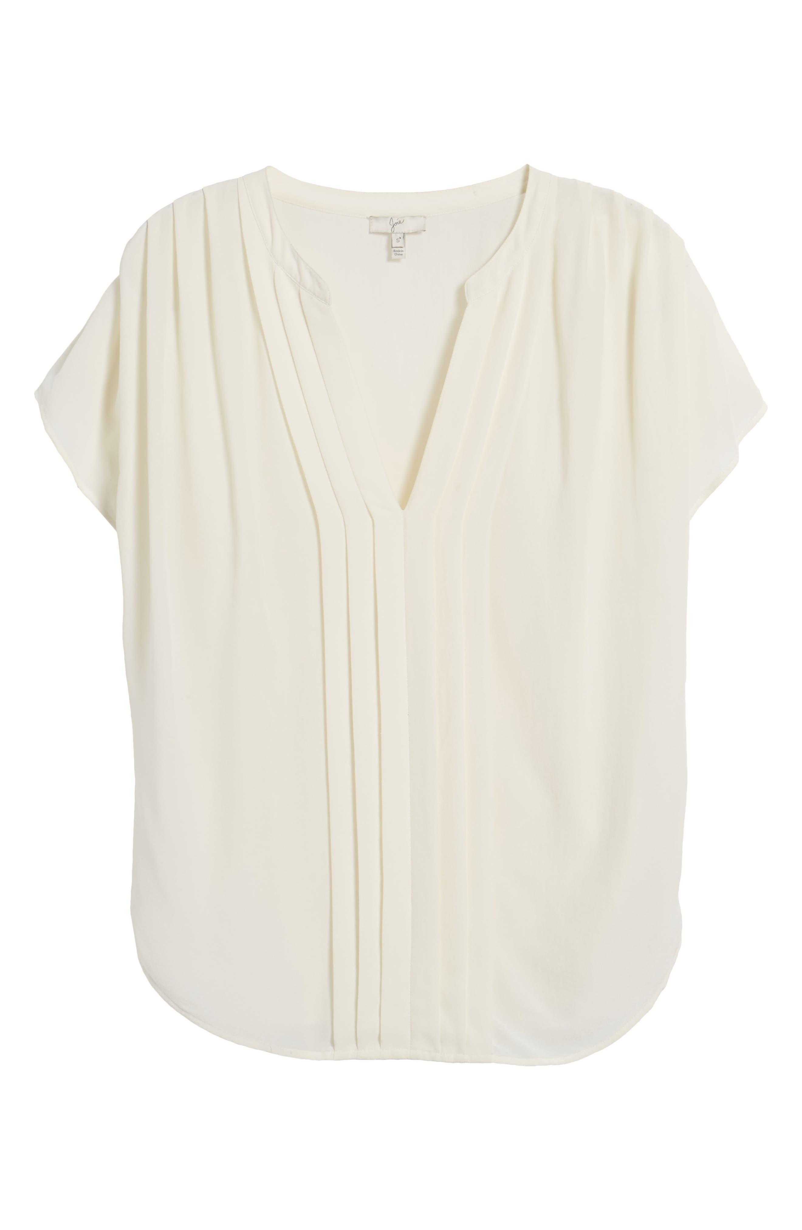 Joie 'Marru' Semi-Sheer Silk Blouse
