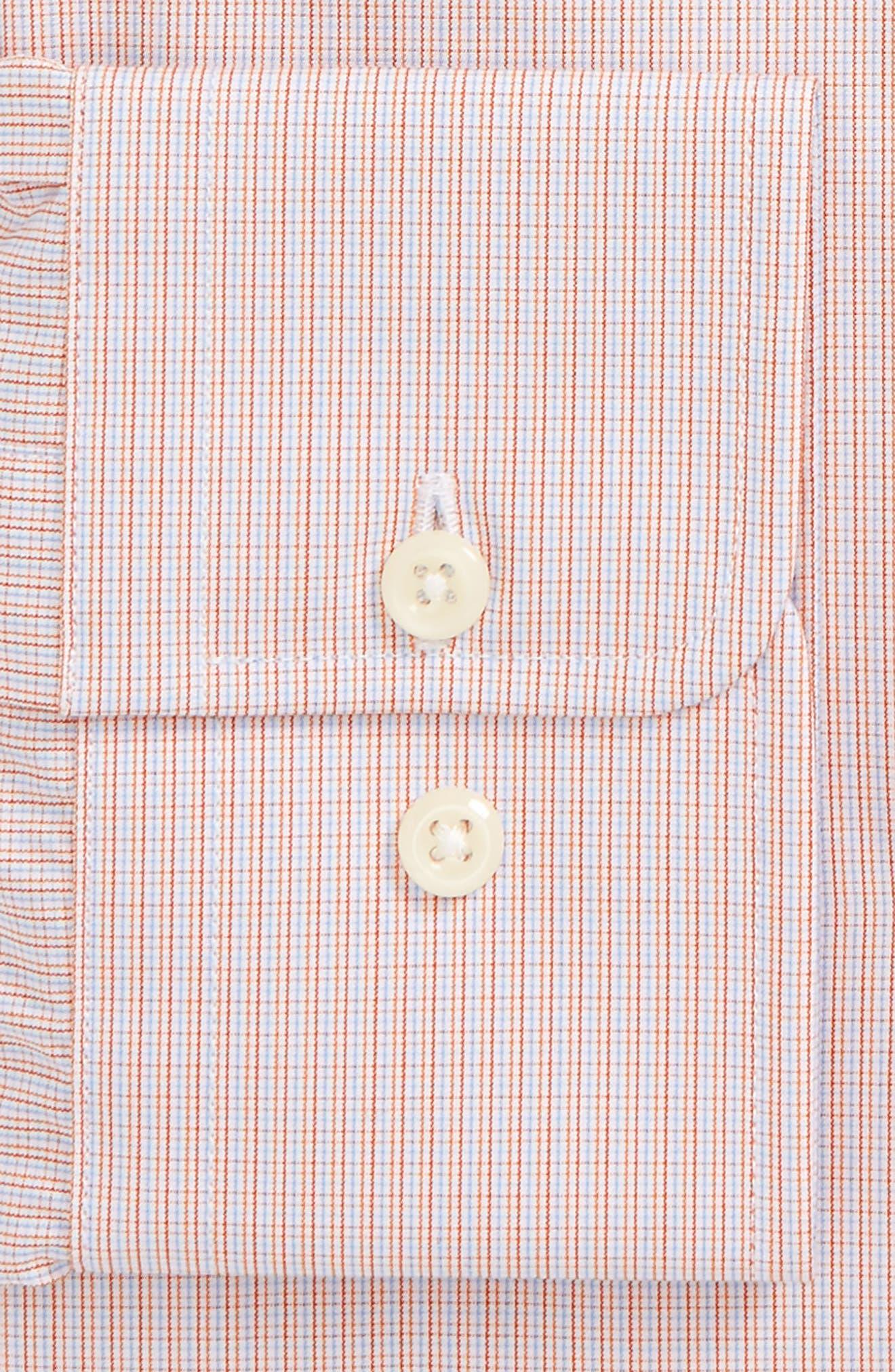 Trim Fit Check Dress Shirt,                             Alternate thumbnail 2, color,                             Pumpkin