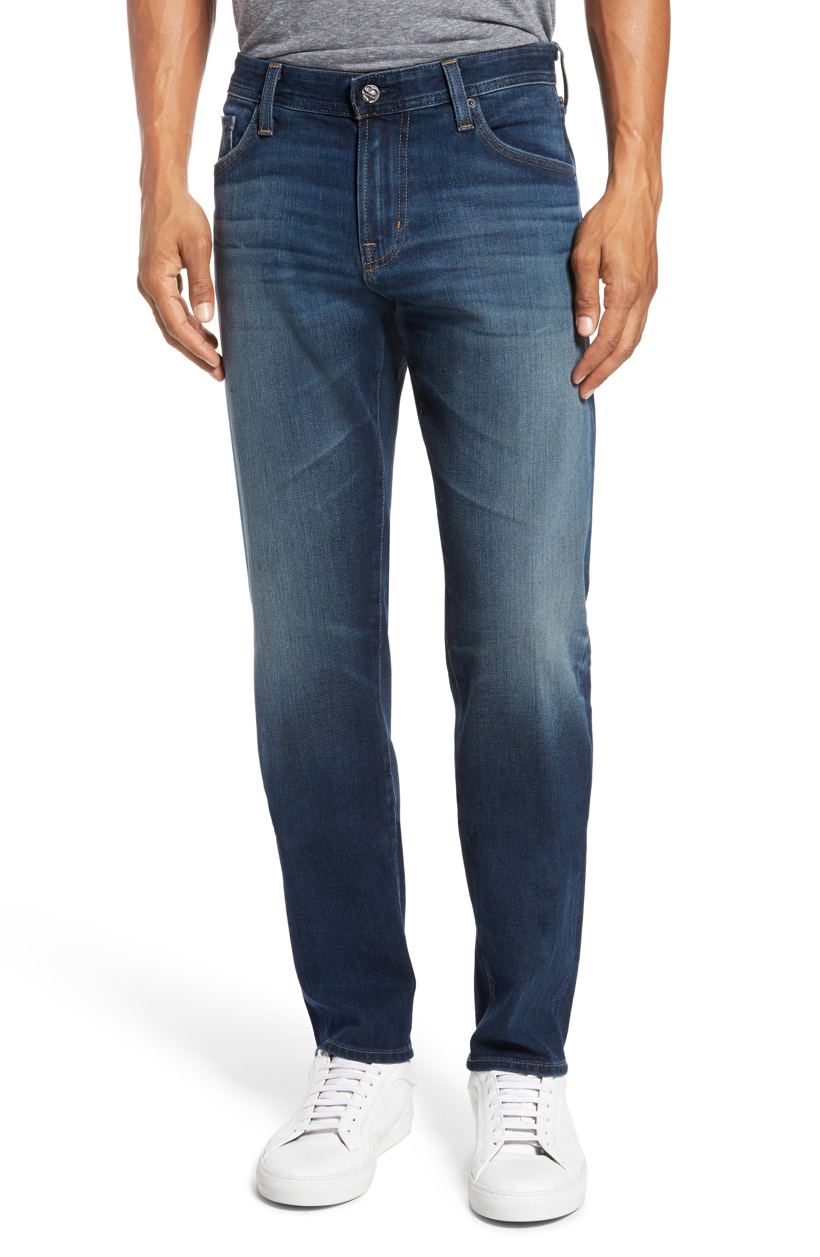 Graduate Slim Straight Fit Jeans,                             Main thumbnail 1, color,                             10 Years Shortcut