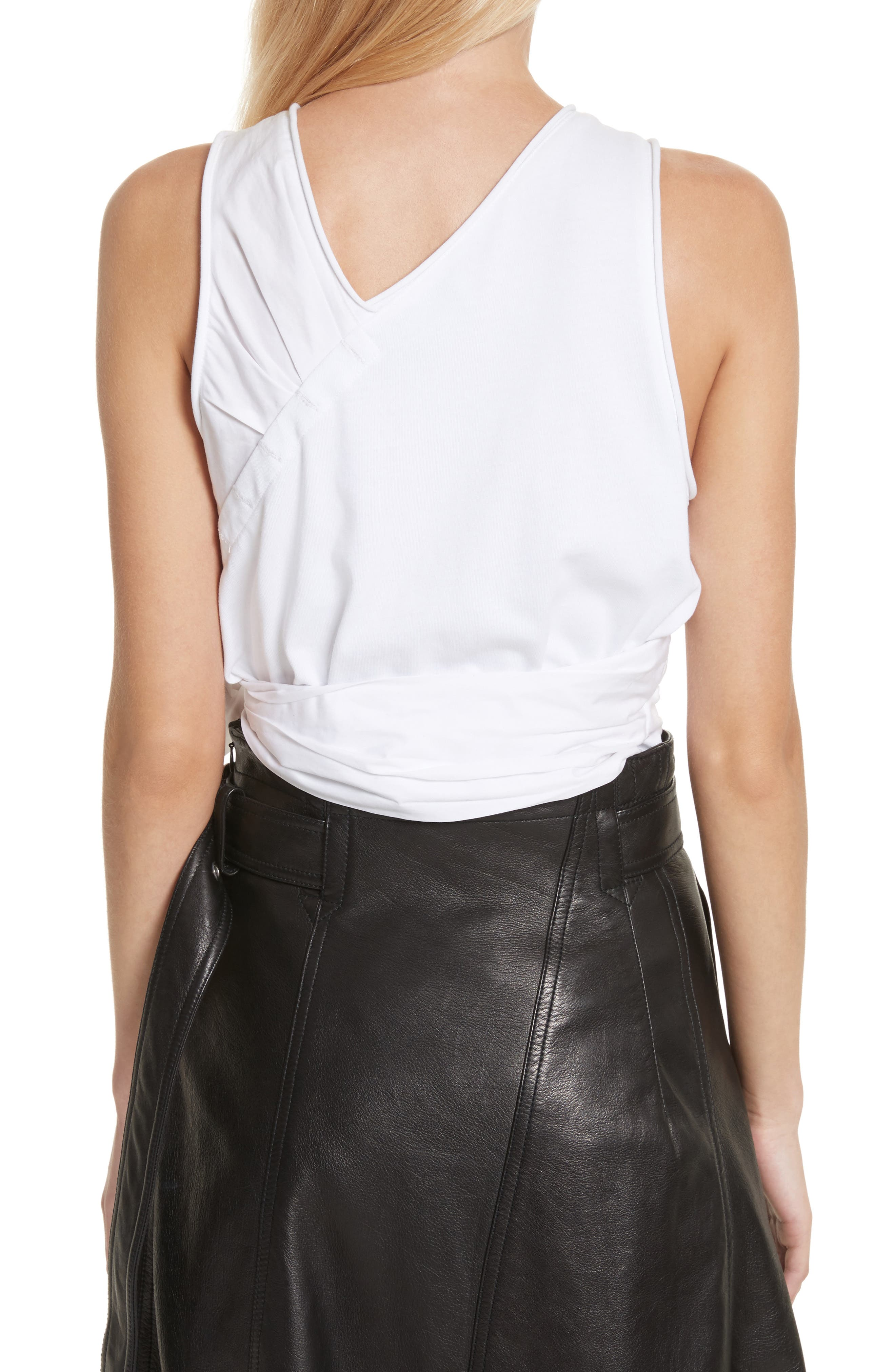 Twist Front Tank Top,                             Alternate thumbnail 2, color,                             White