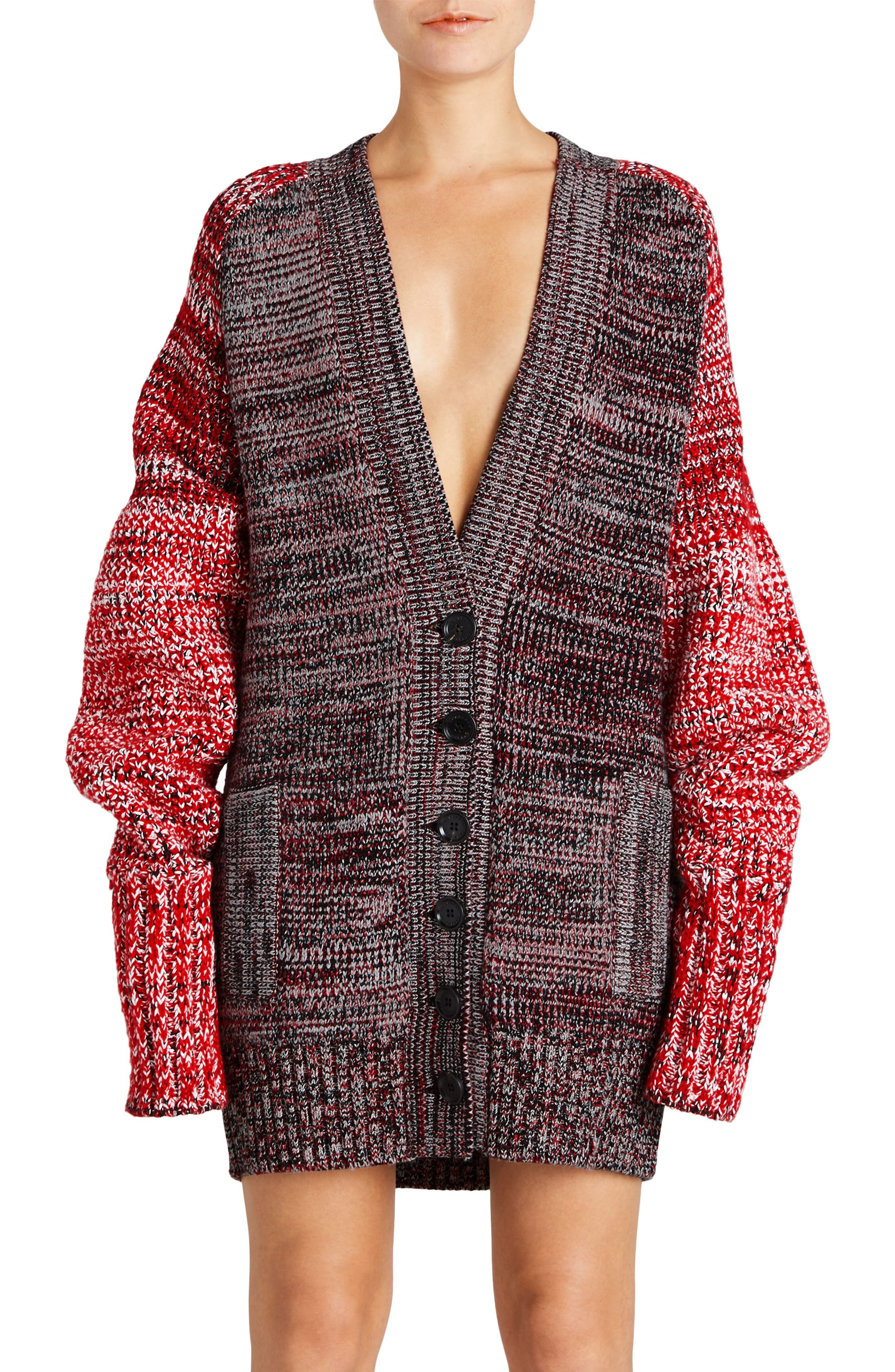 Burberry Cashmere, Cotton & Wool Blend Oversized Cardigan