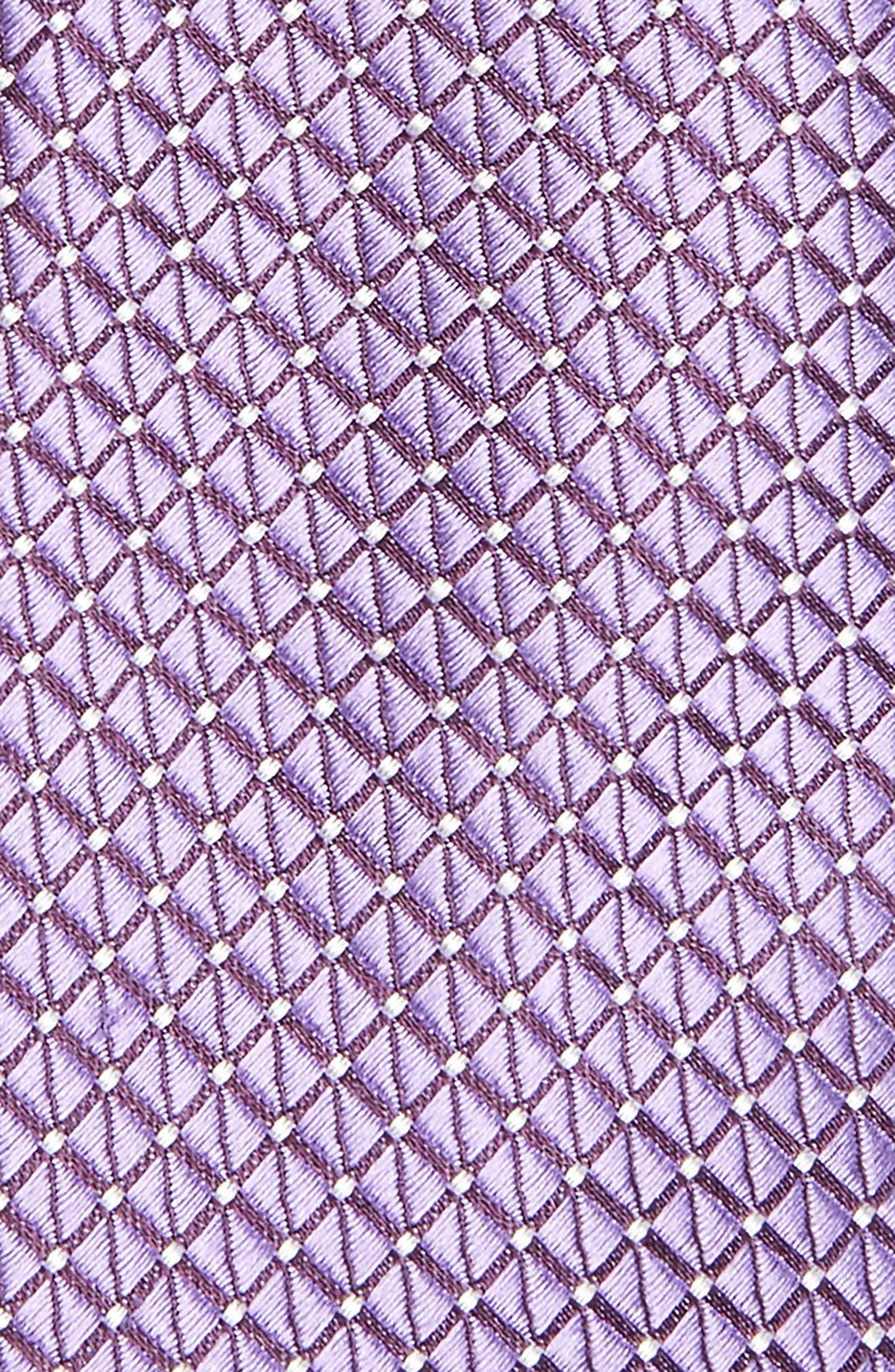 Nordstrom Men's Shop Hammond Neat Silk Tie,                             Alternate thumbnail 2, color,                             Purple