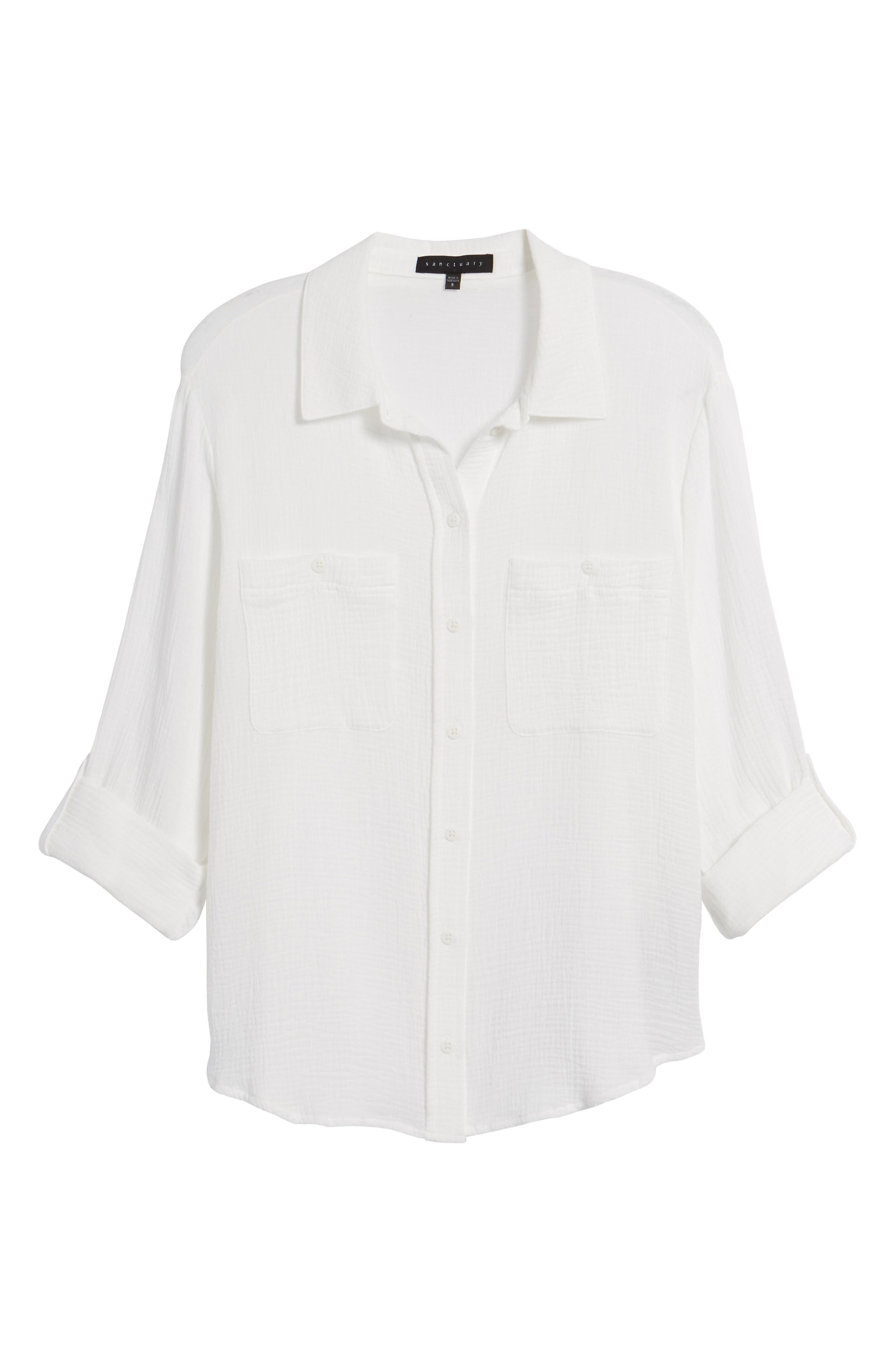 The Steady Boyfriend Shirt,                         Main,                         color, White