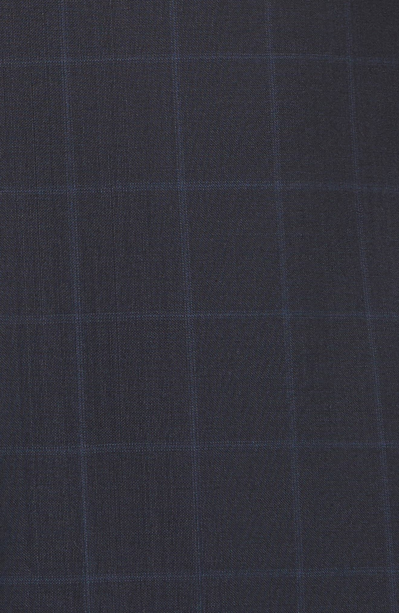 Classic Fit Windowpane Wool Suit,                             Alternate thumbnail 6, color,                             Navy Check