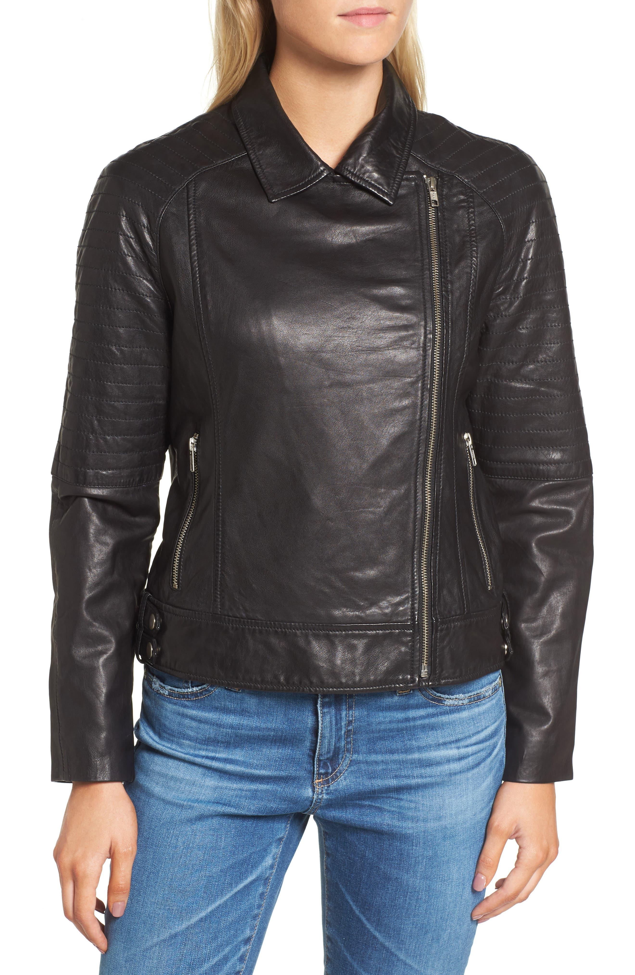 Alternate Image 4  - BB Dakota Harwick Leather Moto Jacket