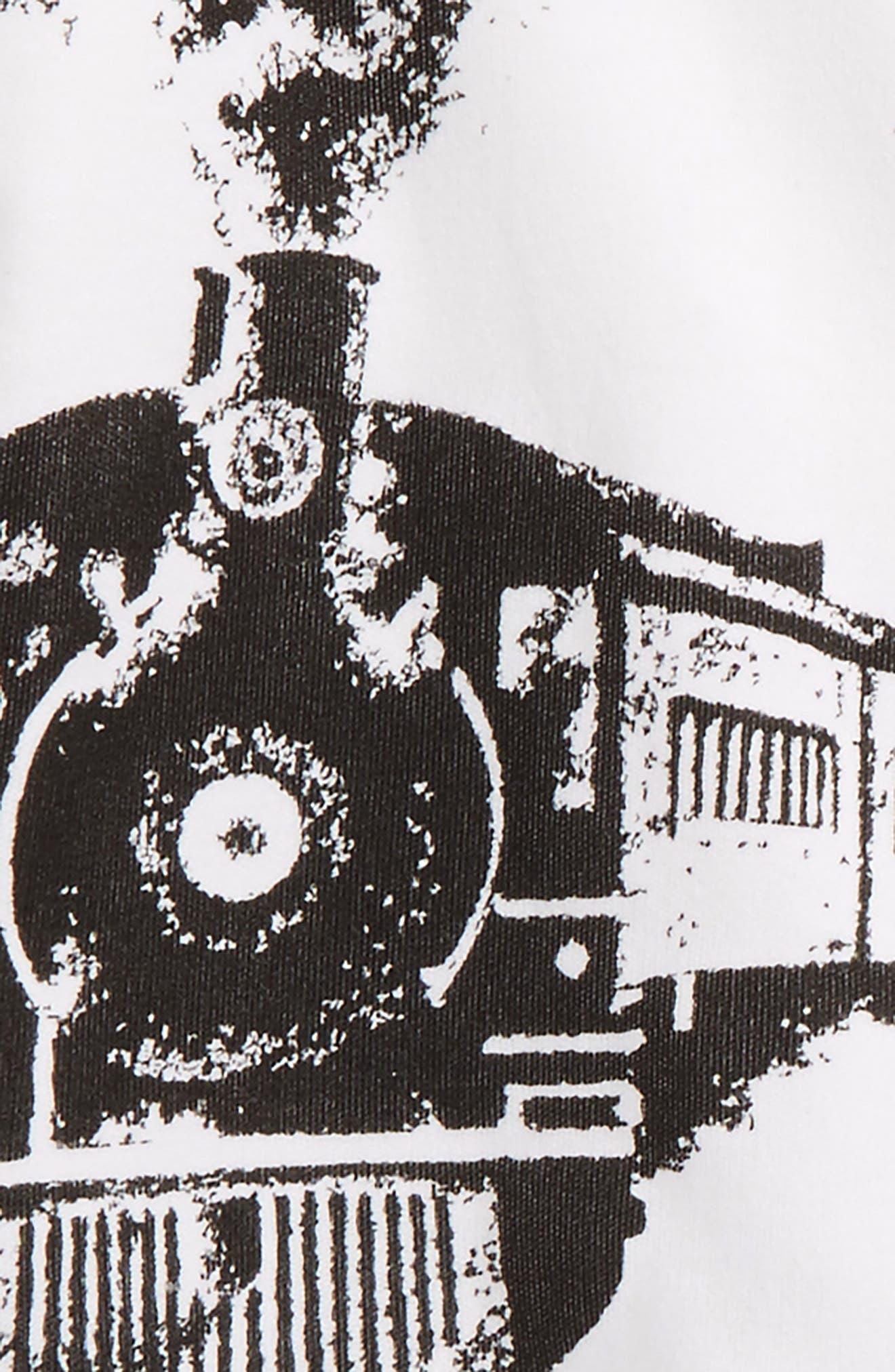 Train T-Shirt & Leggings Set,                             Alternate thumbnail 2, color,                             White And Grey