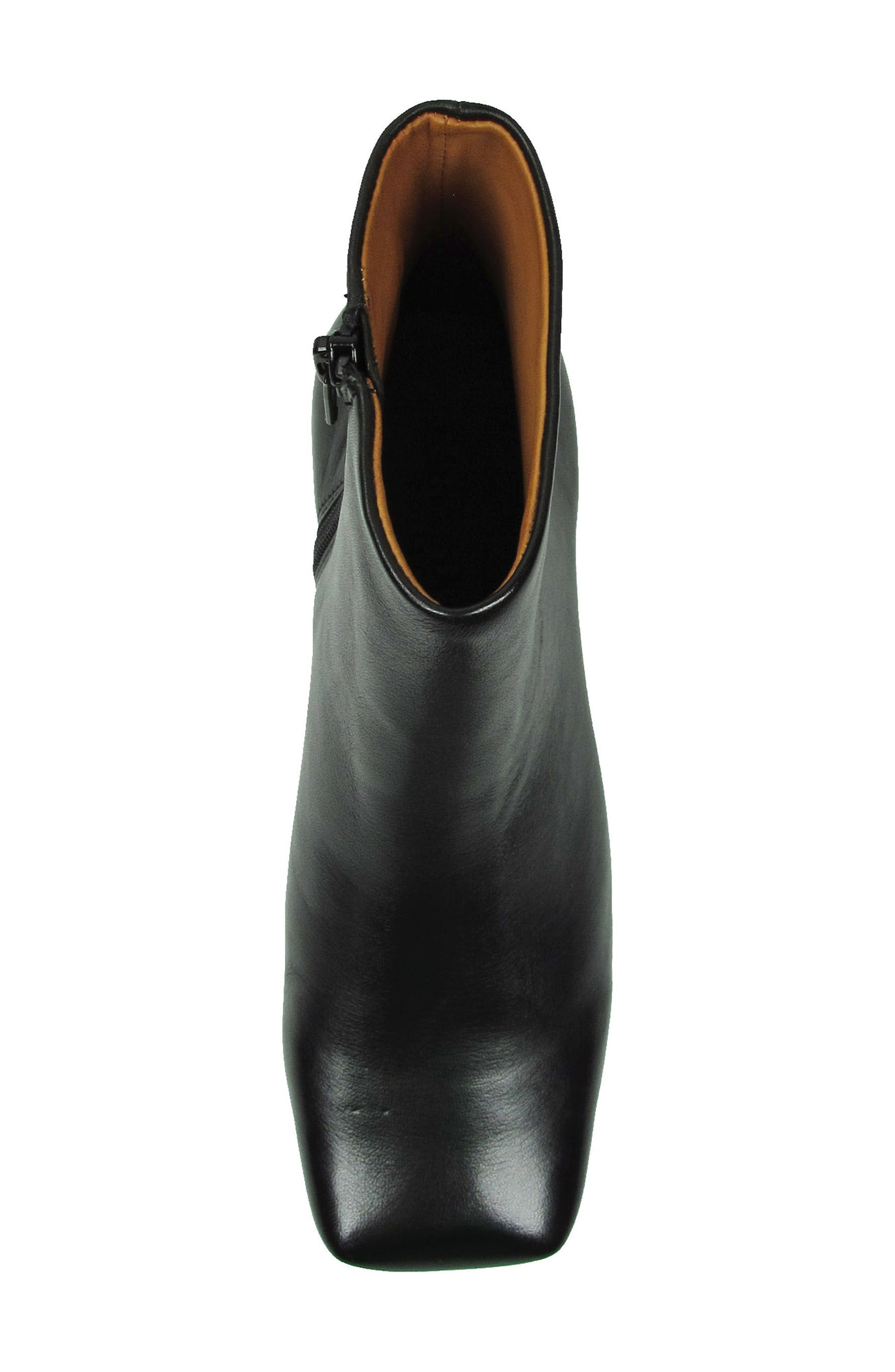 Willomina Bootie,                             Alternate thumbnail 3, color,                             Black Leather