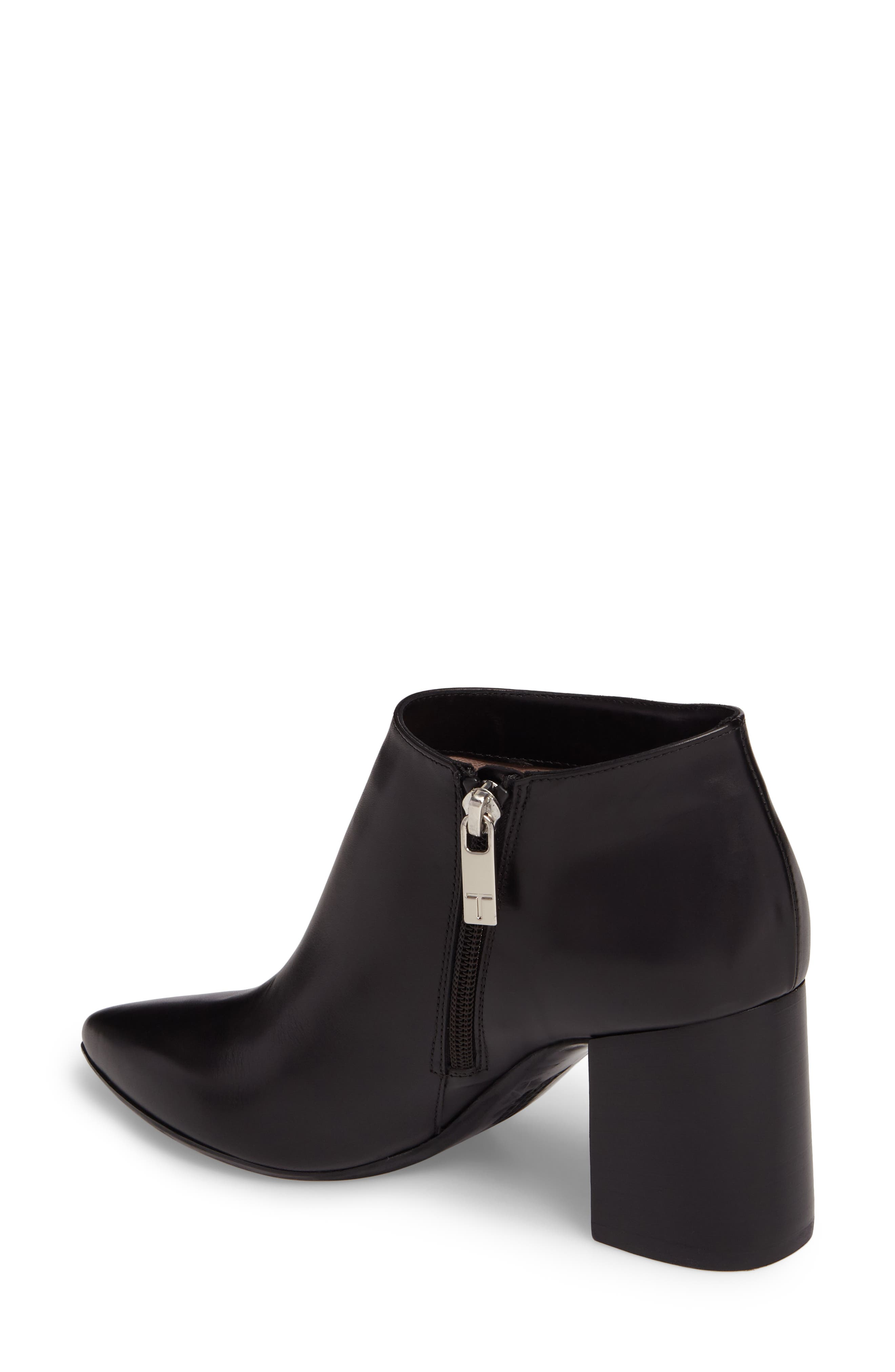 Maria Pointy Toe Bootie,                             Alternate thumbnail 2, color,                             Black Leather