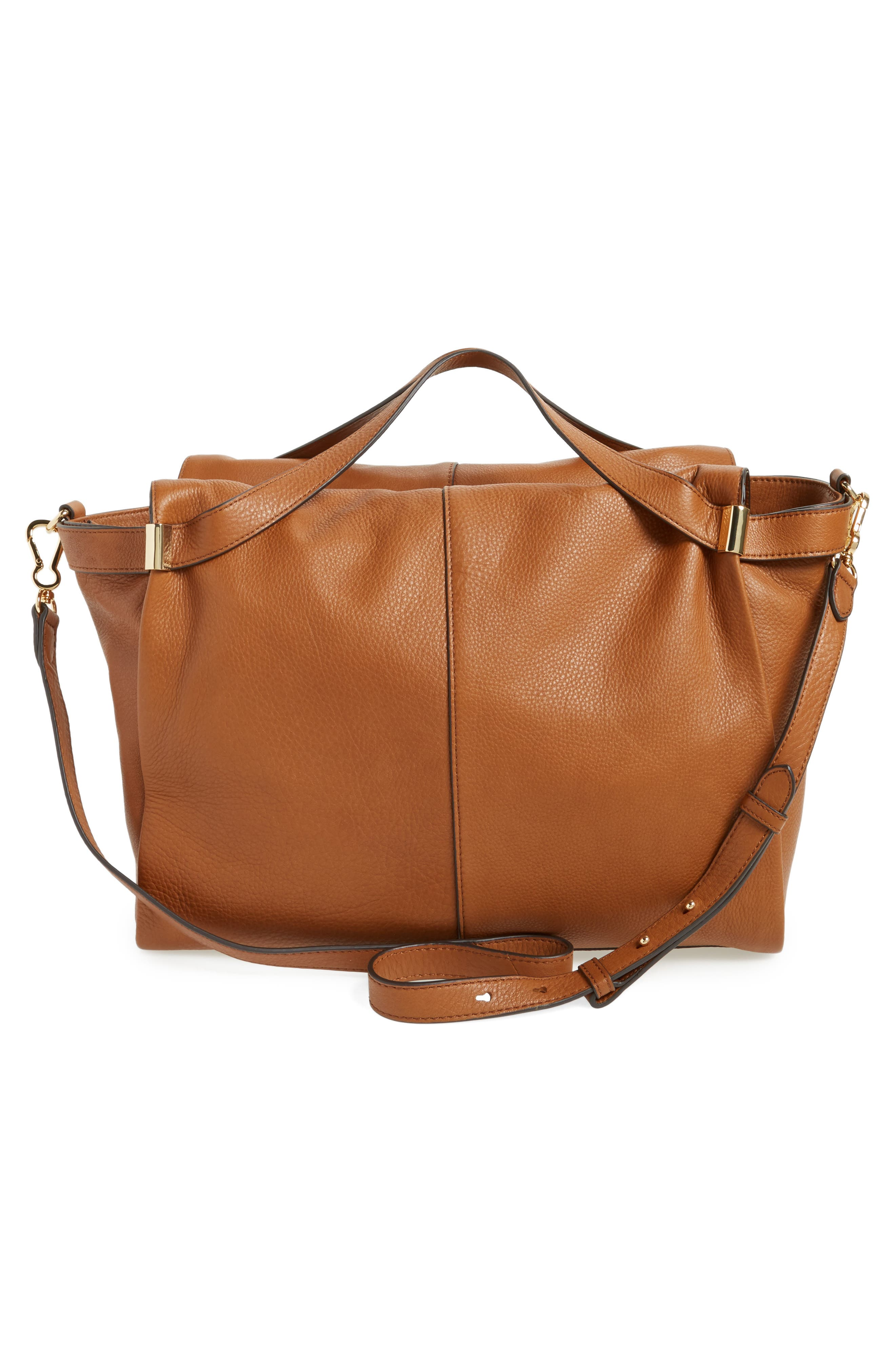 Rosen Leather Satchel,                             Alternate thumbnail 2, color,                             Dark Rum