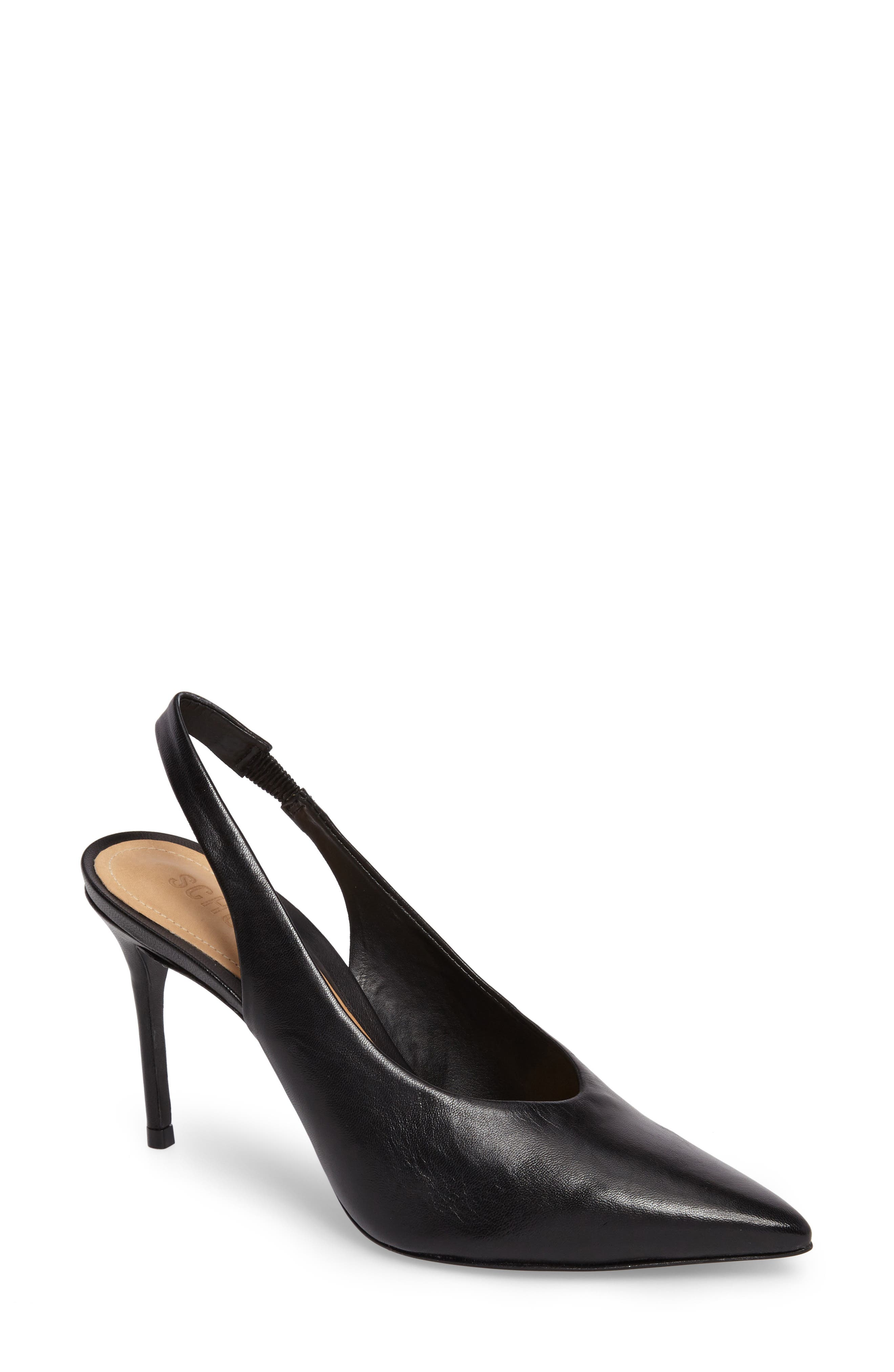 Phisalis Slingback Pump,                             Main thumbnail 1, color,                             Black Mestico Leather