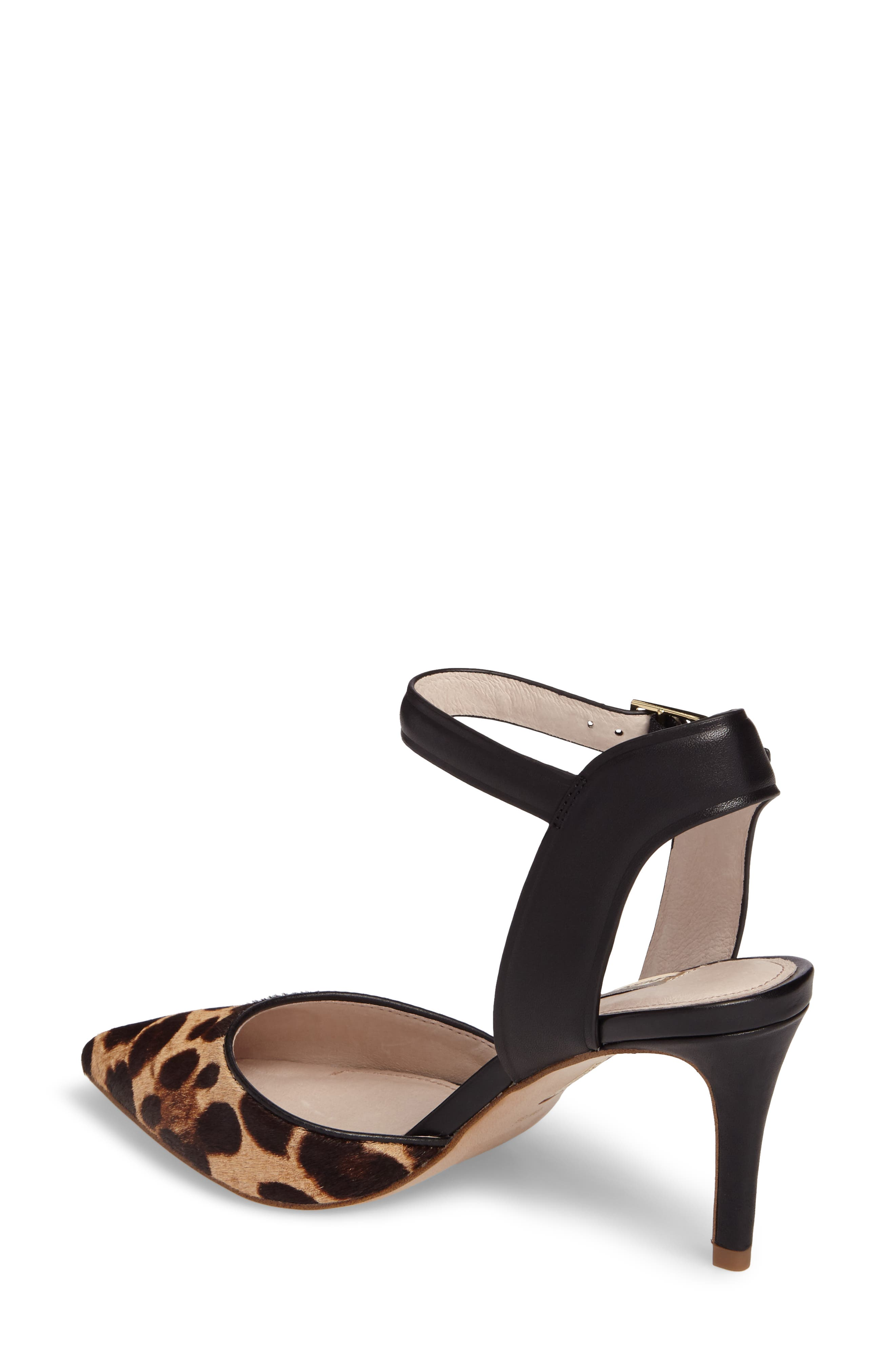 Kota Ankle Strap Pump,                             Alternate thumbnail 2, color,                             Leopard Print Calf Hair