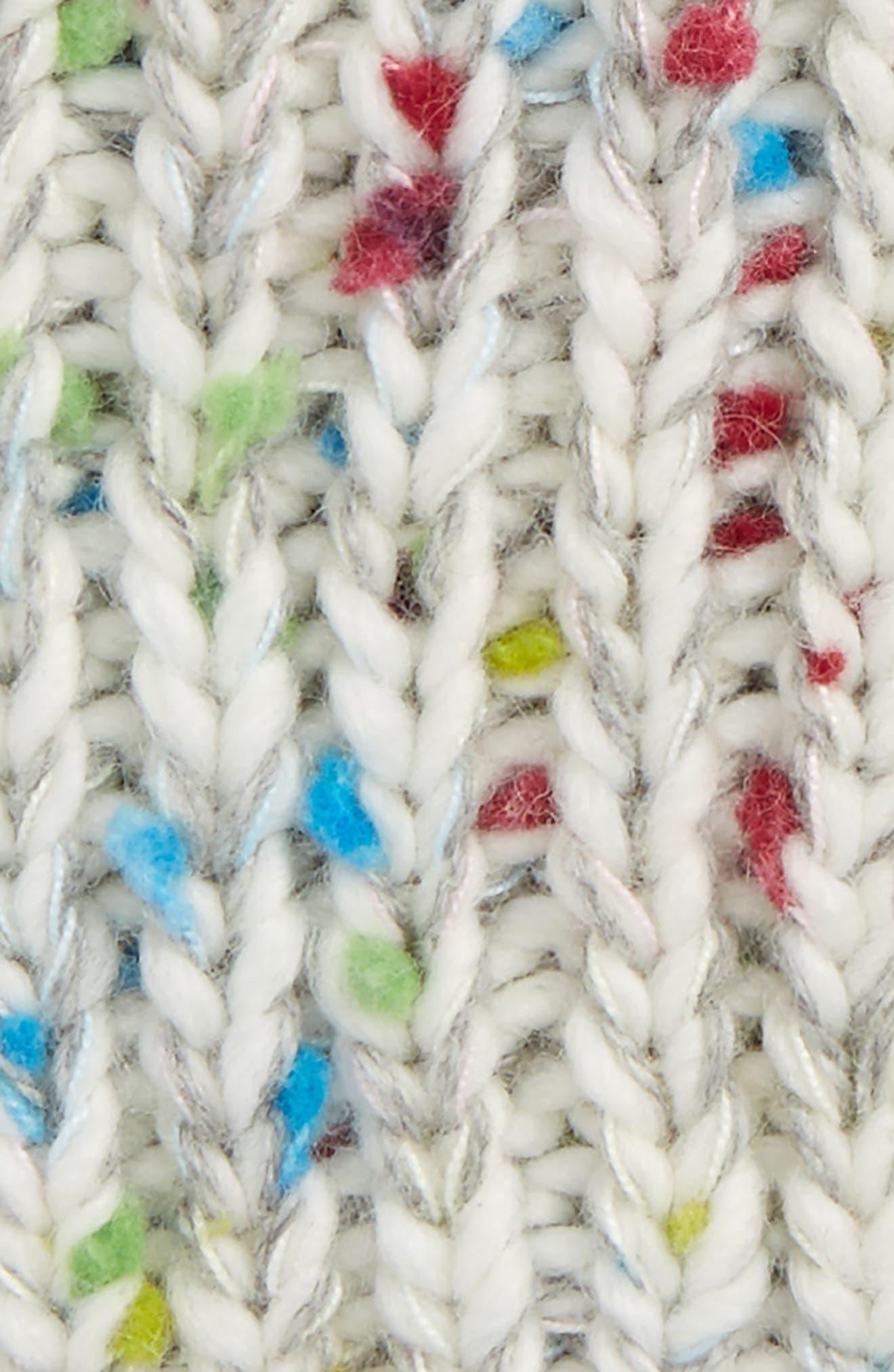 Pom Hat,                             Alternate thumbnail 2, color,                             White Multi