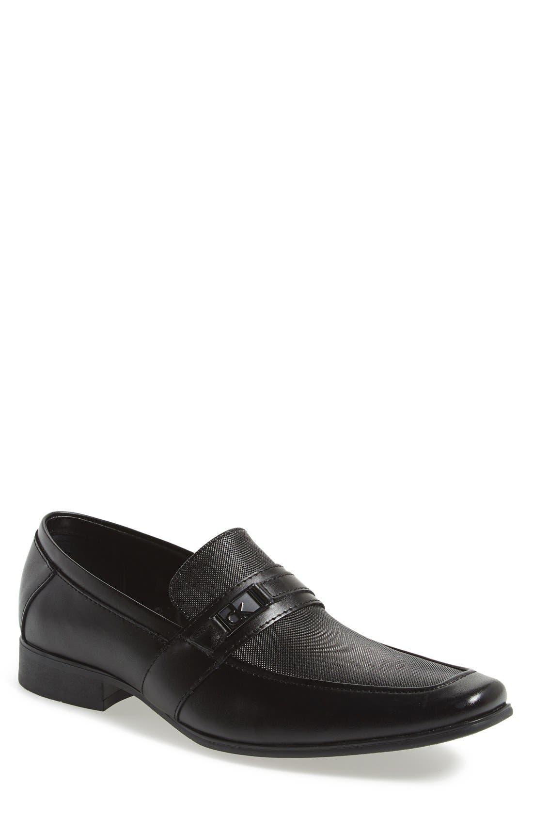 'Bartley' Bit Loafer,                         Main,                         color, Black