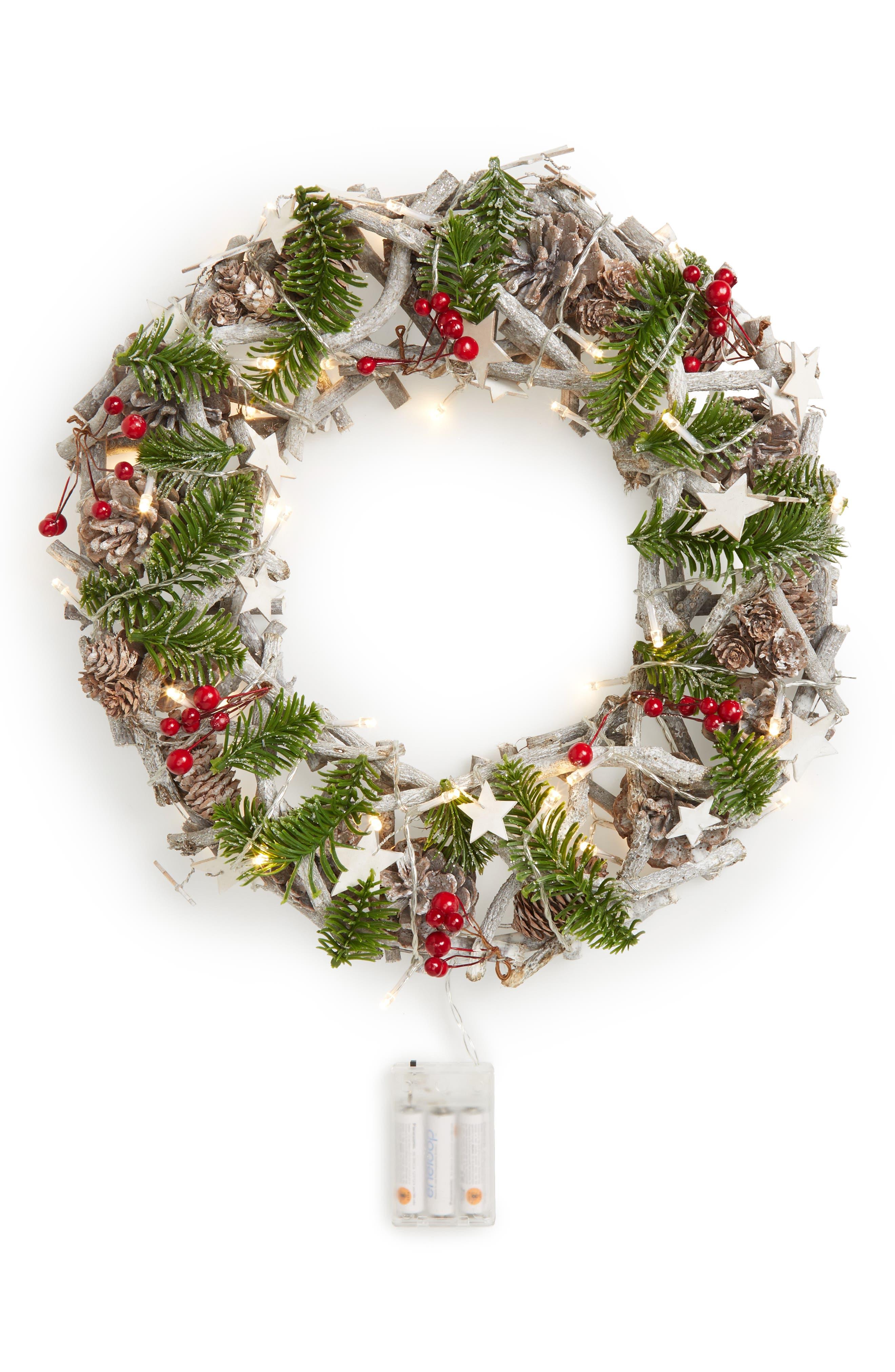 Pinecone Wreath,                         Main,                         color, Green