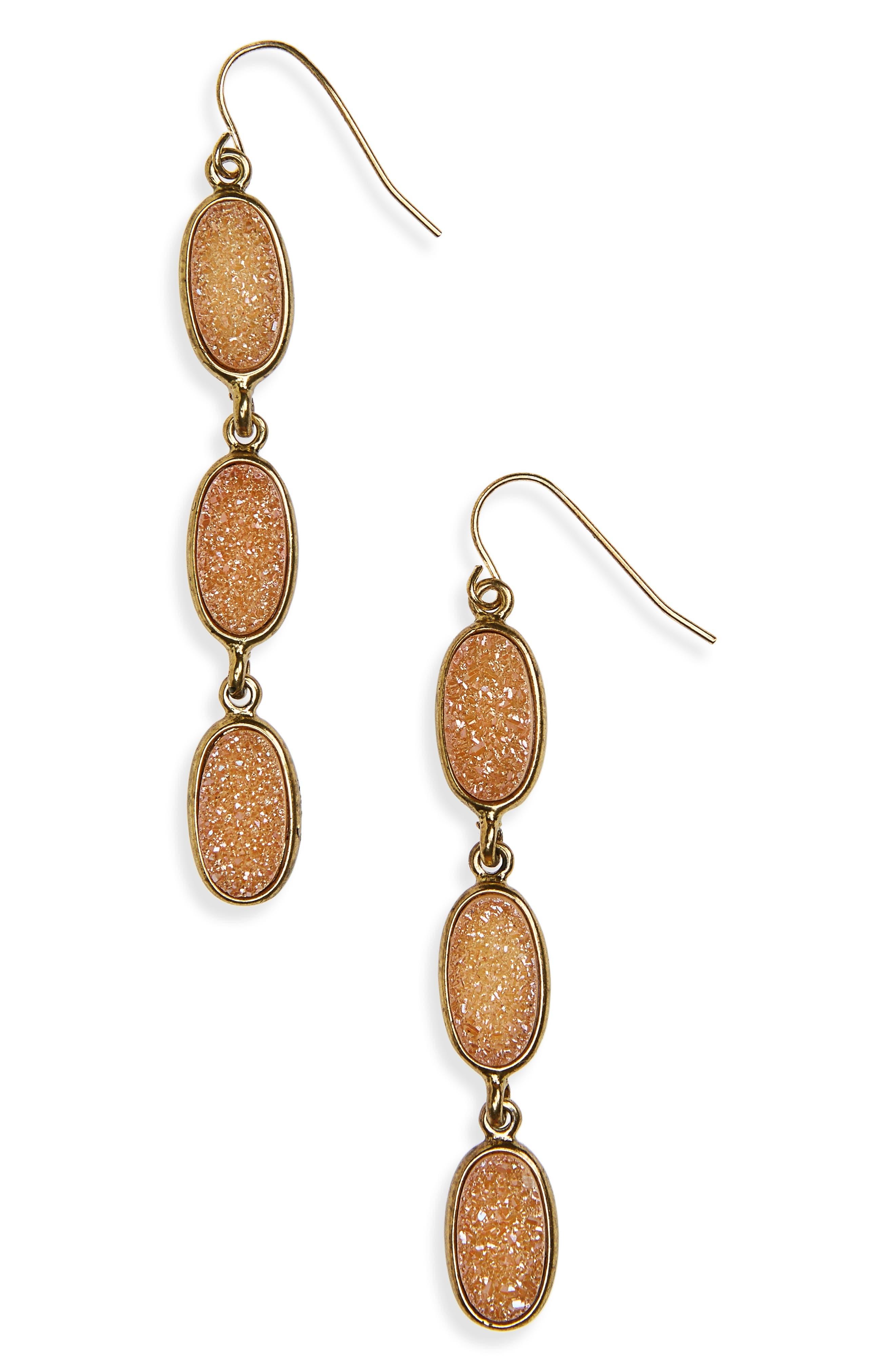 Treasure & Bond Drusy Drop Earrings