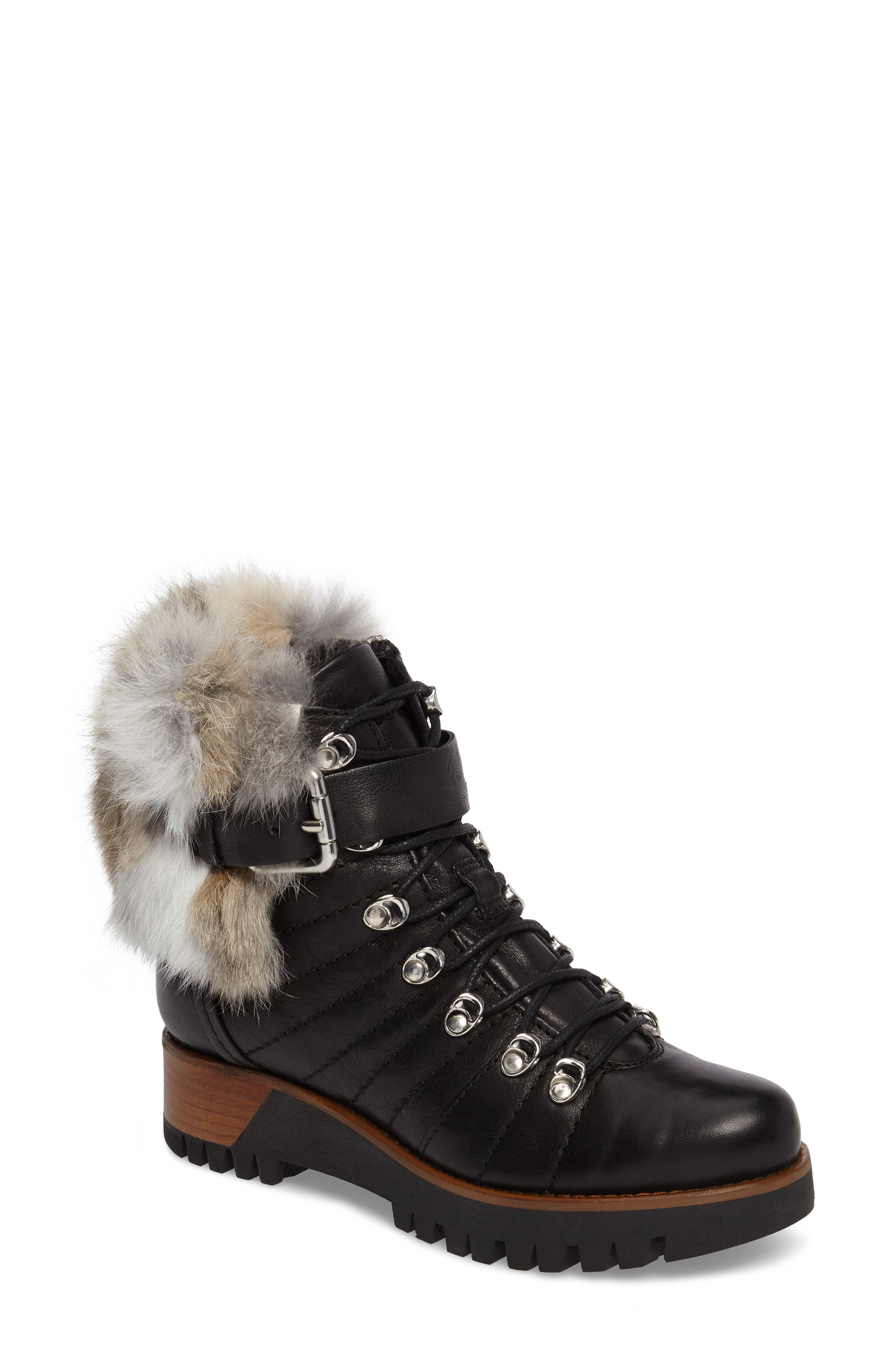 Rudsak Baie Genuine Rabbit Fur Trim Winter Boot (Women)