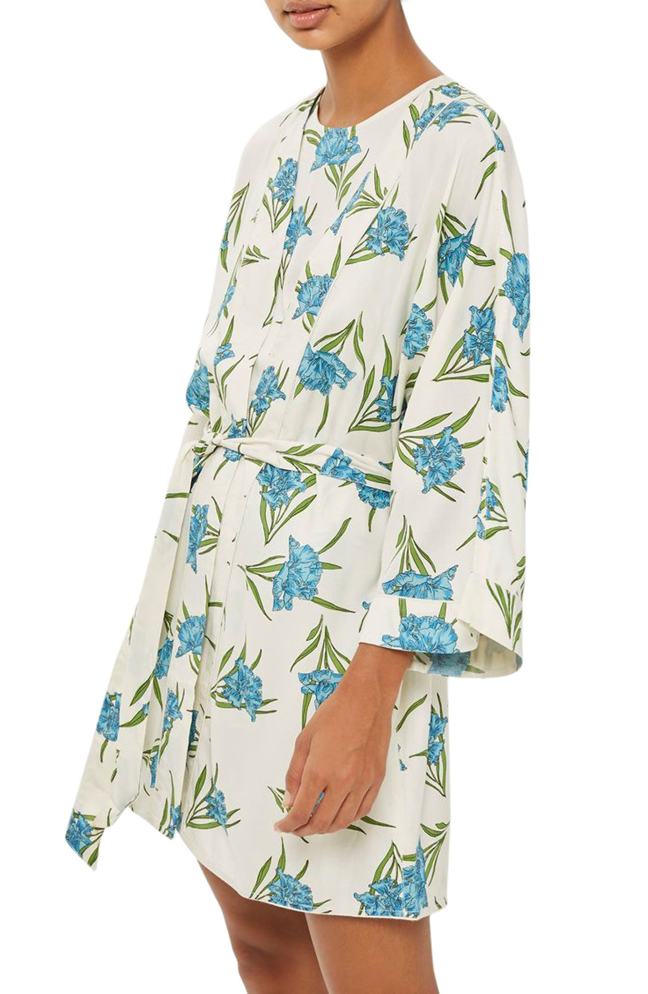 Main Image - Topshop Botanical Print Short Robe