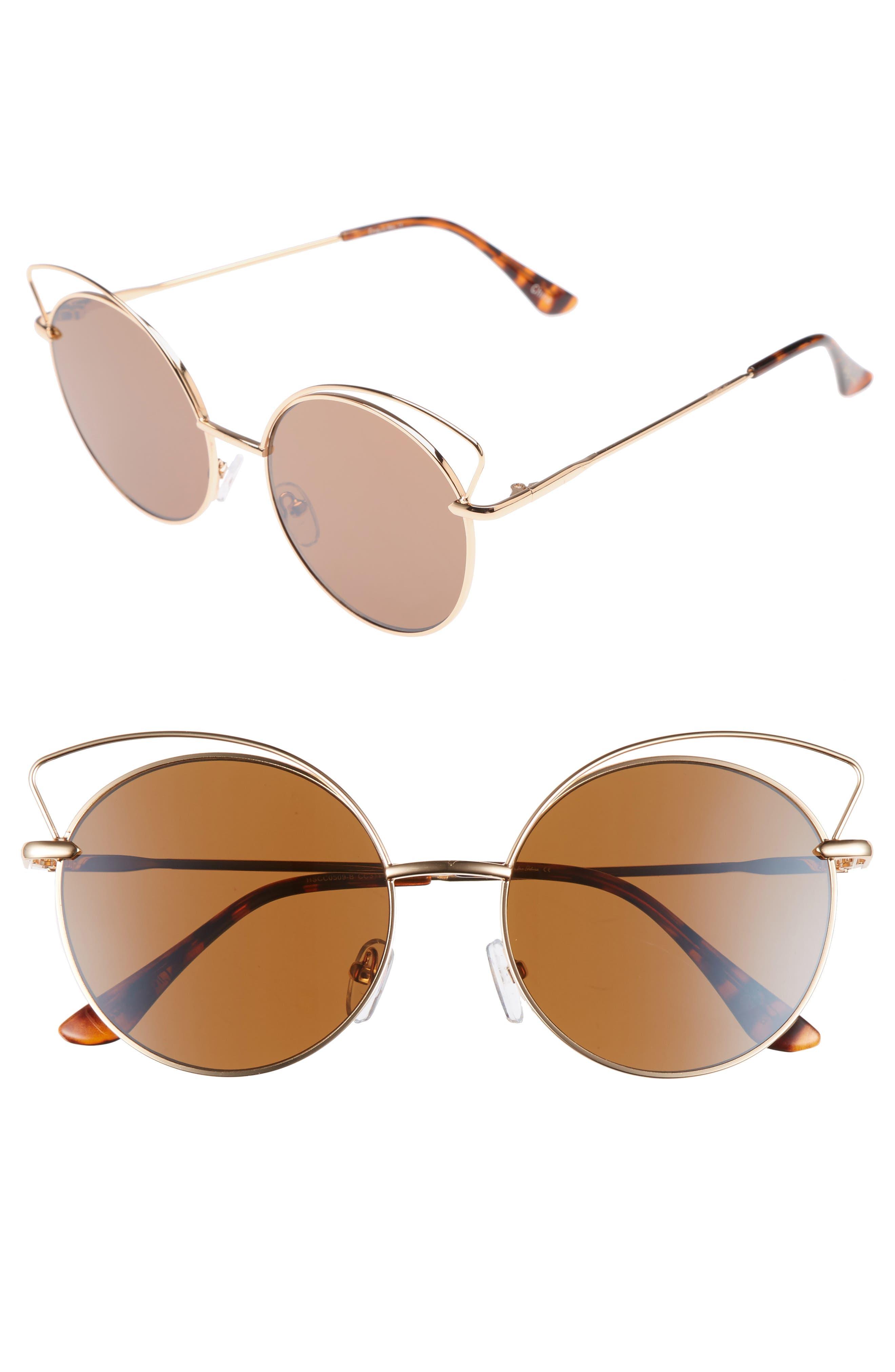 Satellite 55mm Round Sunglasses,                         Main,                         color, Gold