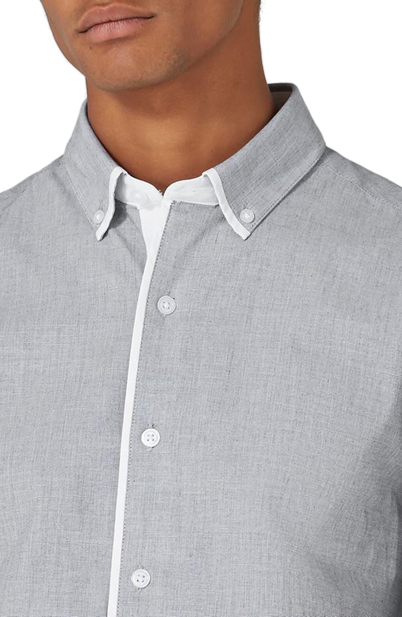 Alternate Image 3  - Topman Leeson Slim Fit Smart Shirt