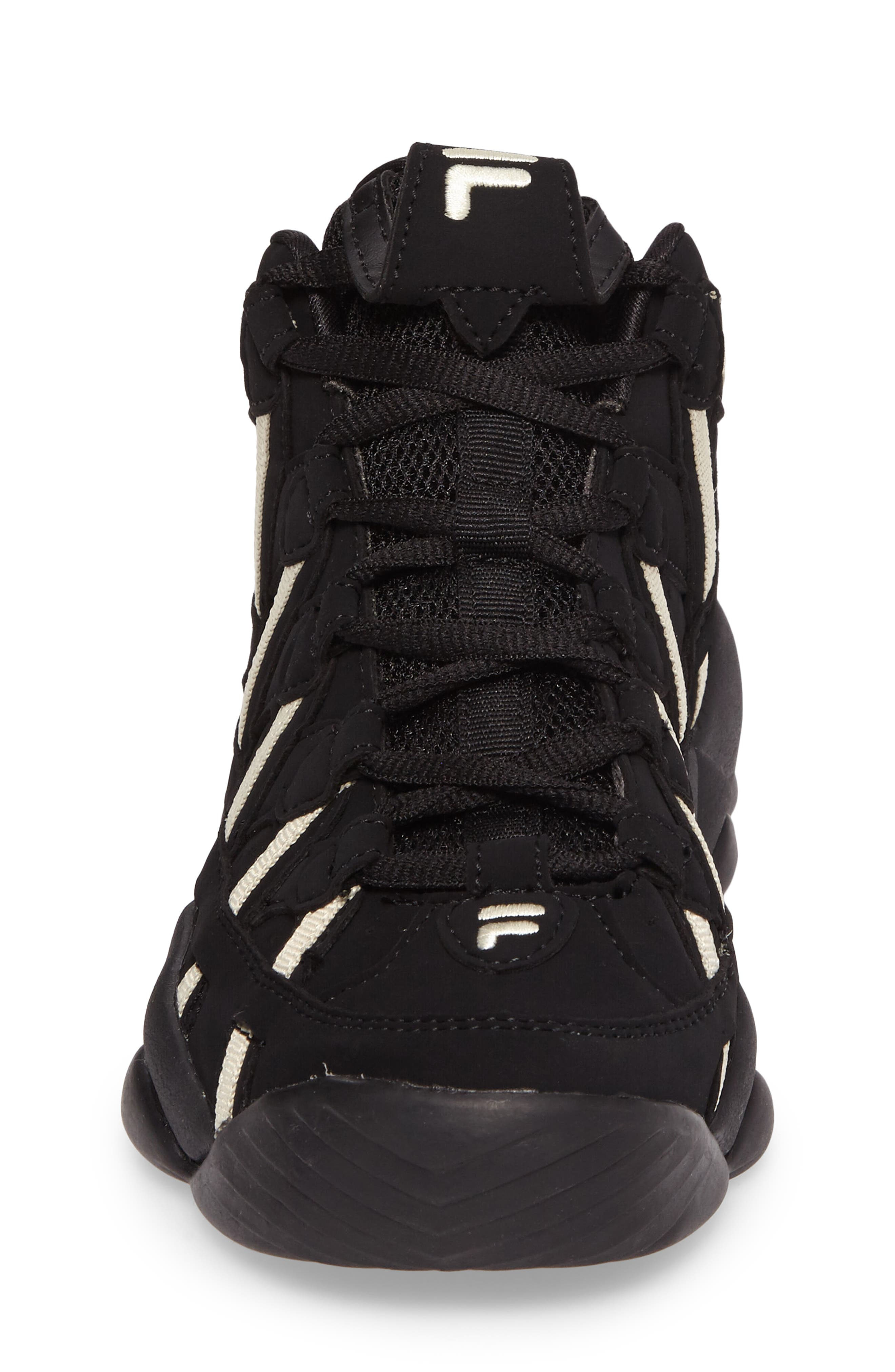 Spaghetti Deluxe Mid Top Sneaker,                             Alternate thumbnail 4, color,                             Black/ Cream