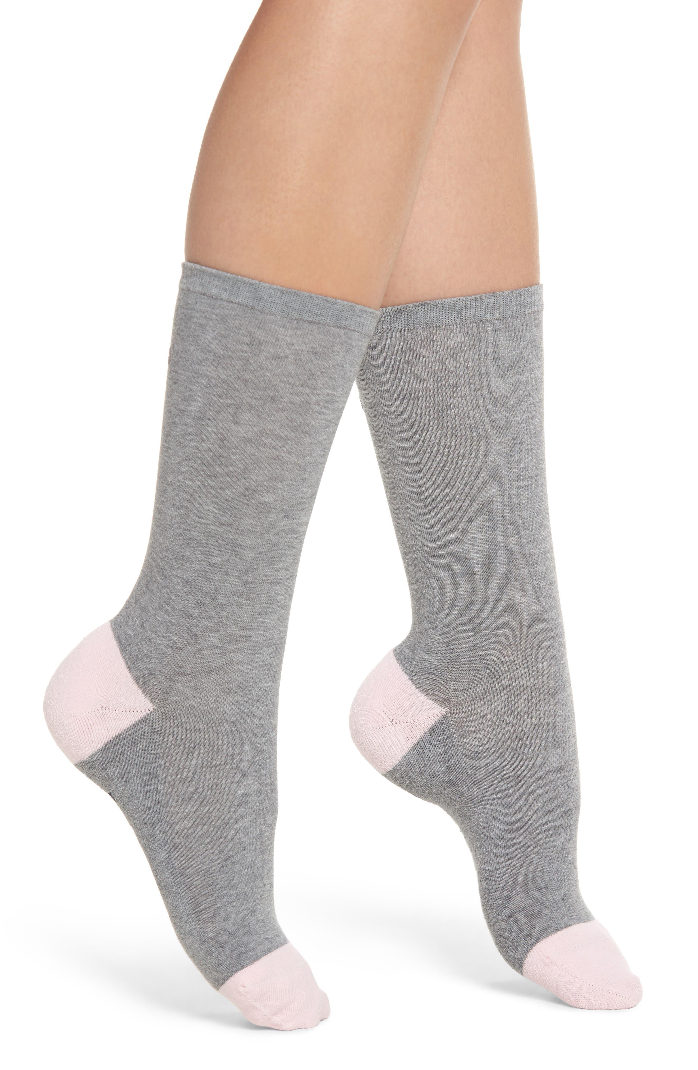 Foot Loose Crew Socks,                             Alternate thumbnail 2, color,                             Grey Heather