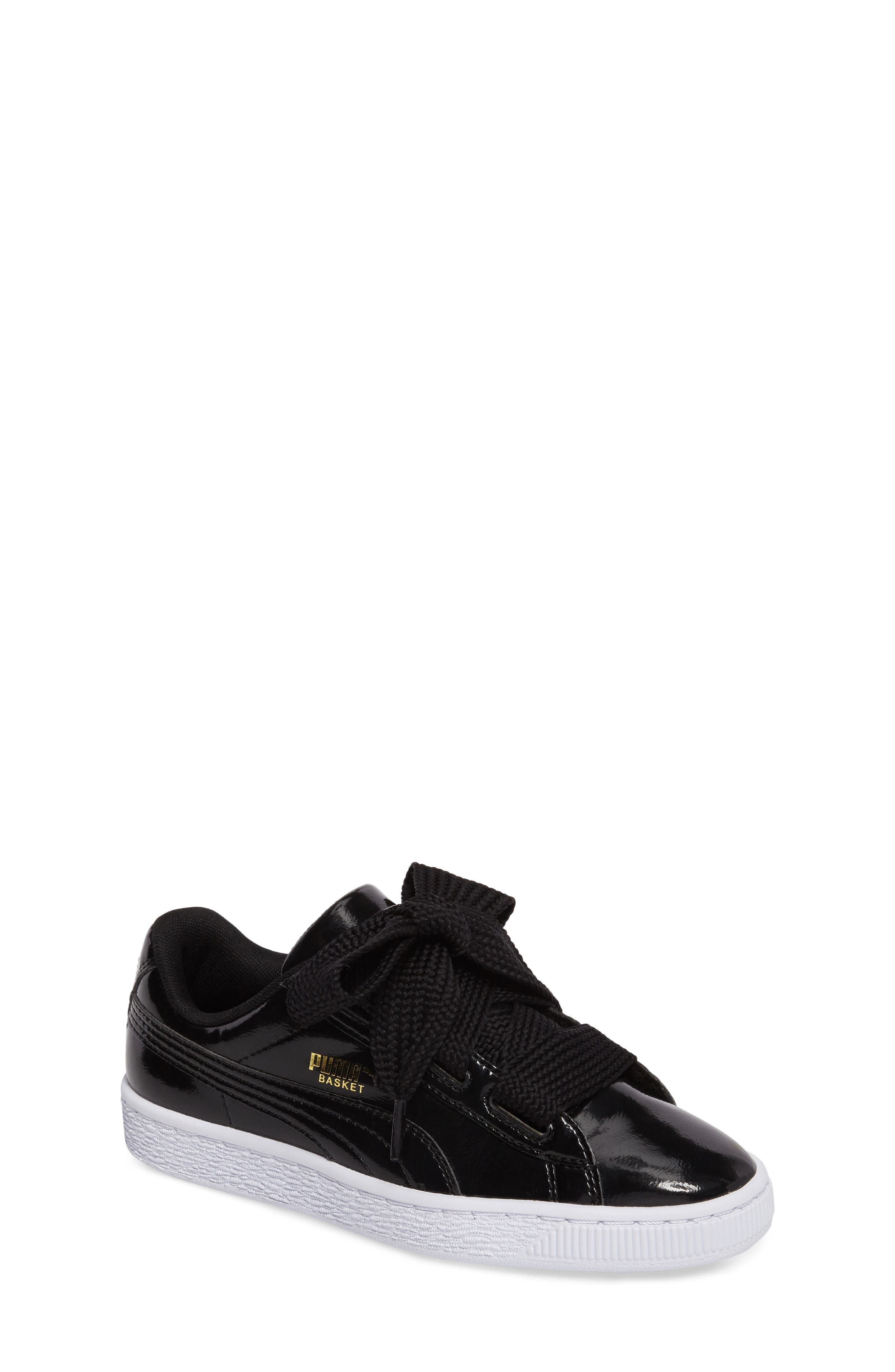kids black puma shoes