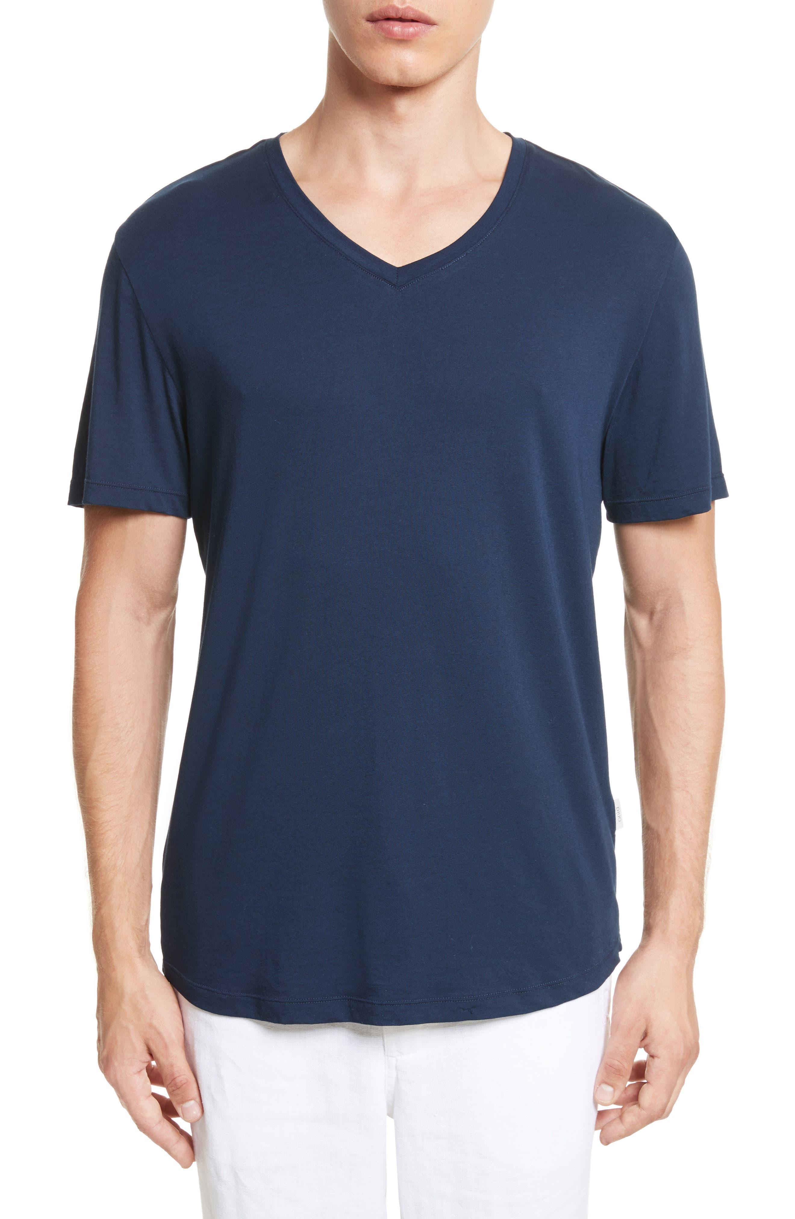Joey V-Neck T-shirt,                         Main,                         color, Deep Navy