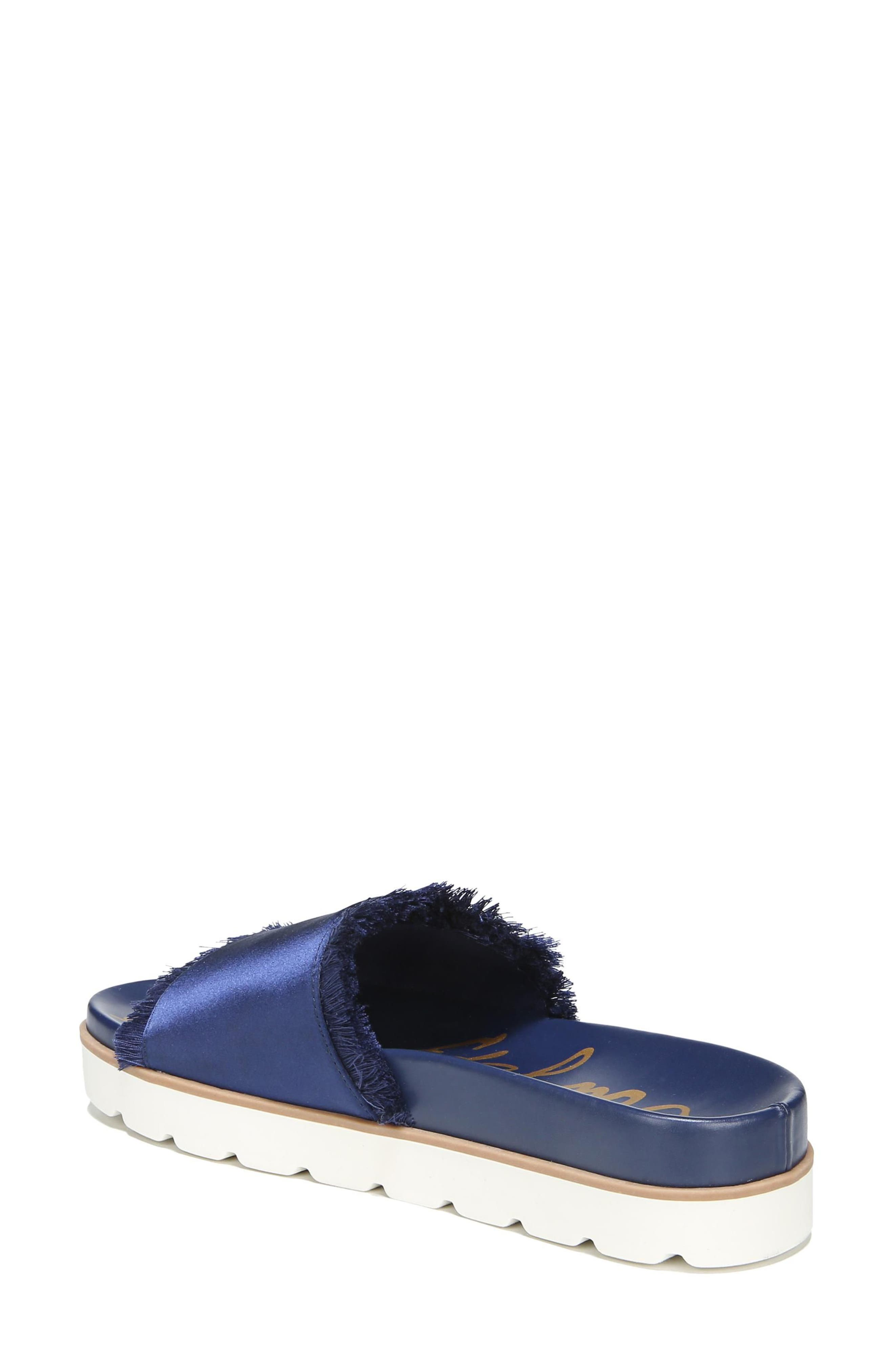 Mares Slide Sandal,                             Alternate thumbnail 2, color,                             Poseidon Blue Satin