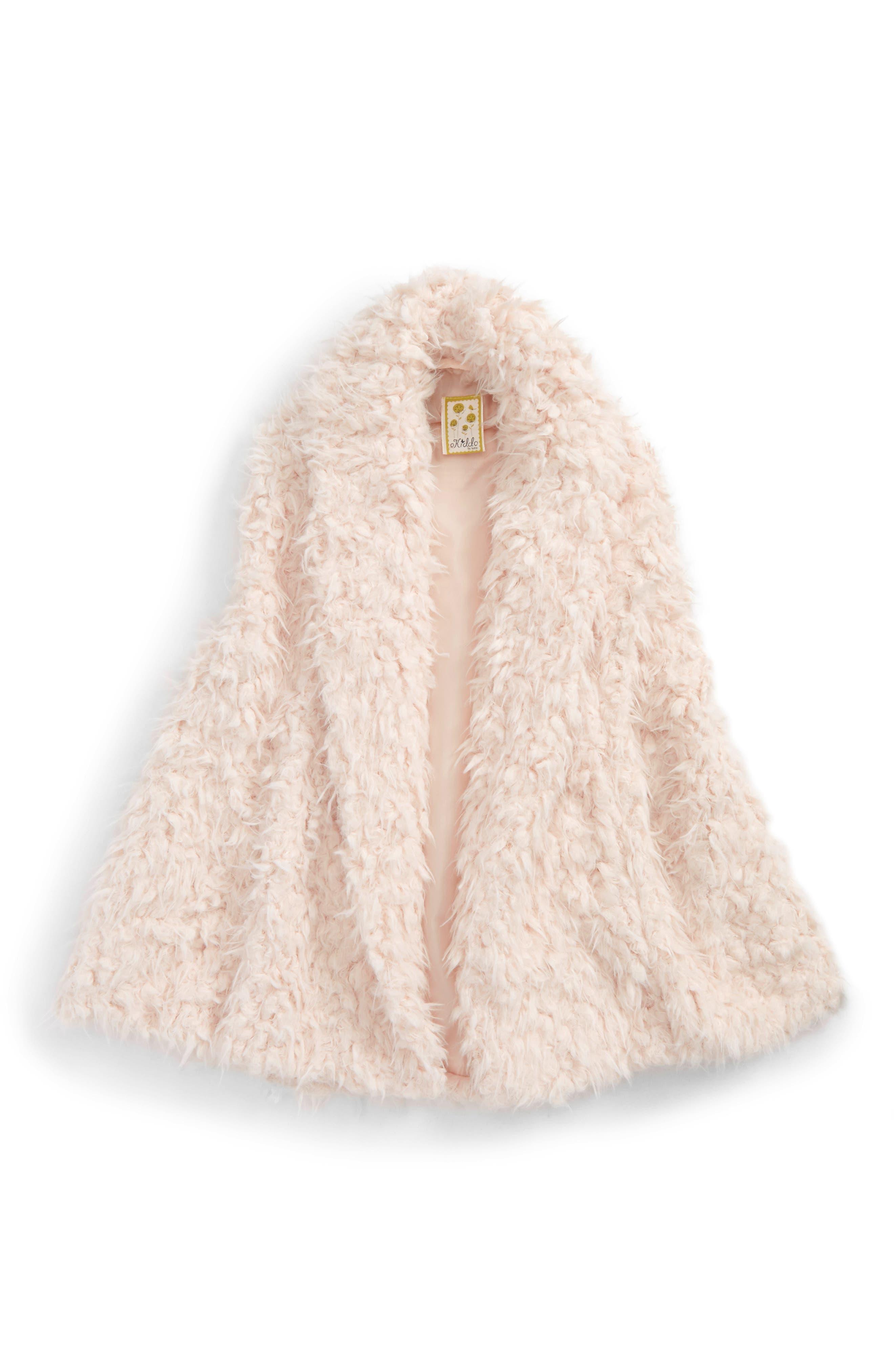 Faux Fur Vest,                             Main thumbnail 1, color,                             Blush