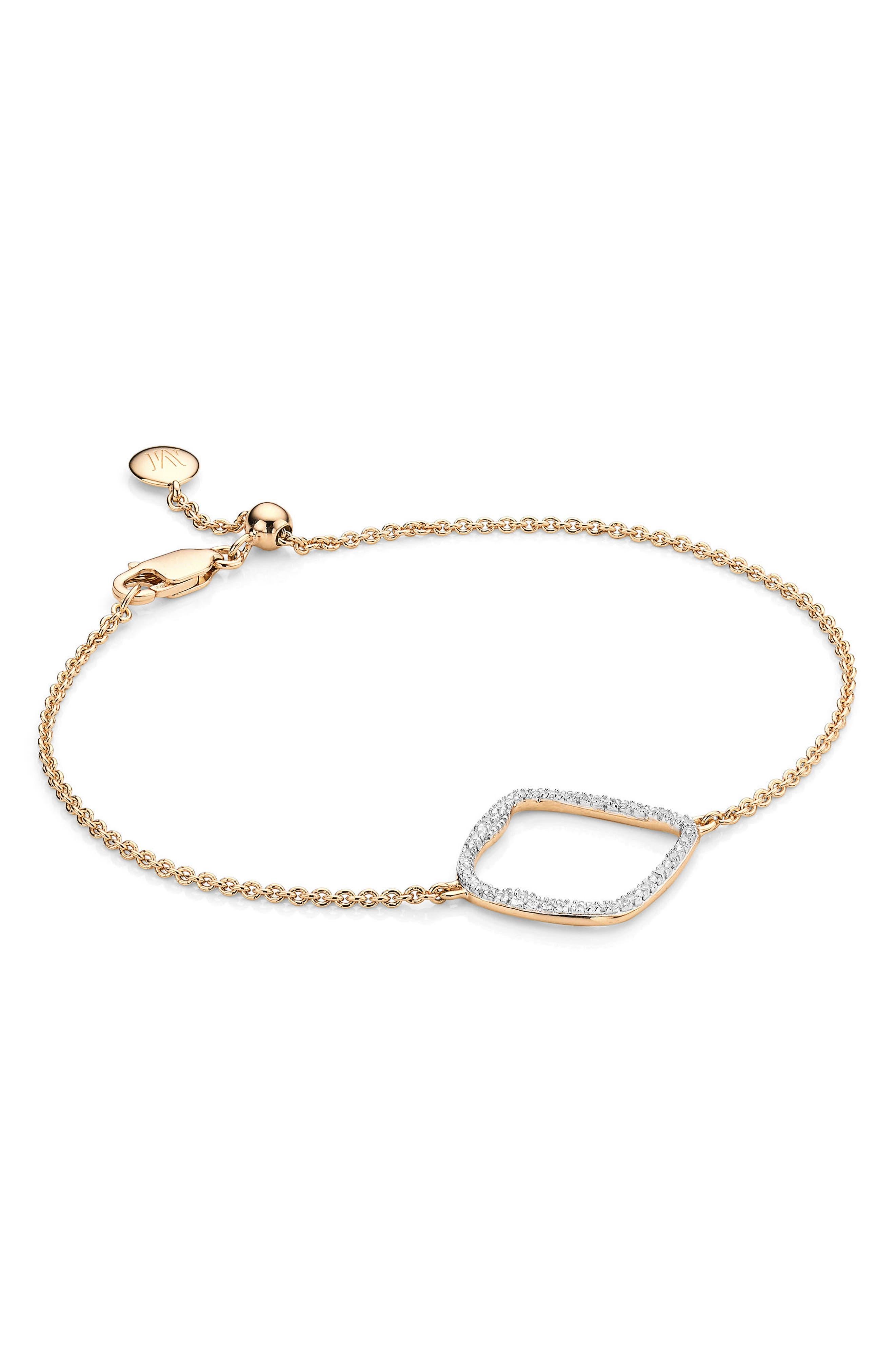 Alternate Image 1 Selected - Monica Vinader Riva Large Hoop Diamond Bracelet