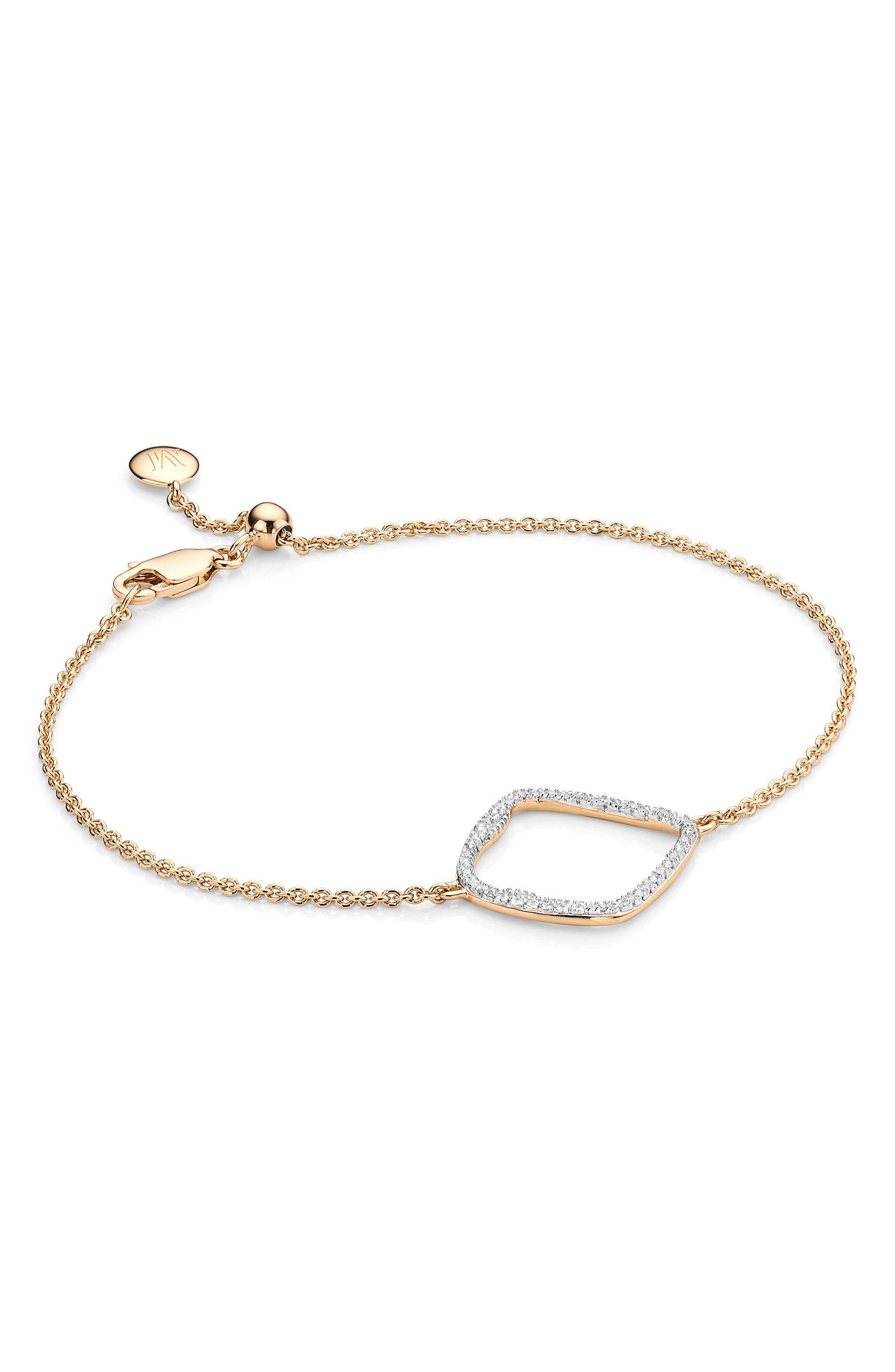 Monica Vinader Riva Large Hoop Diamond Bracelet