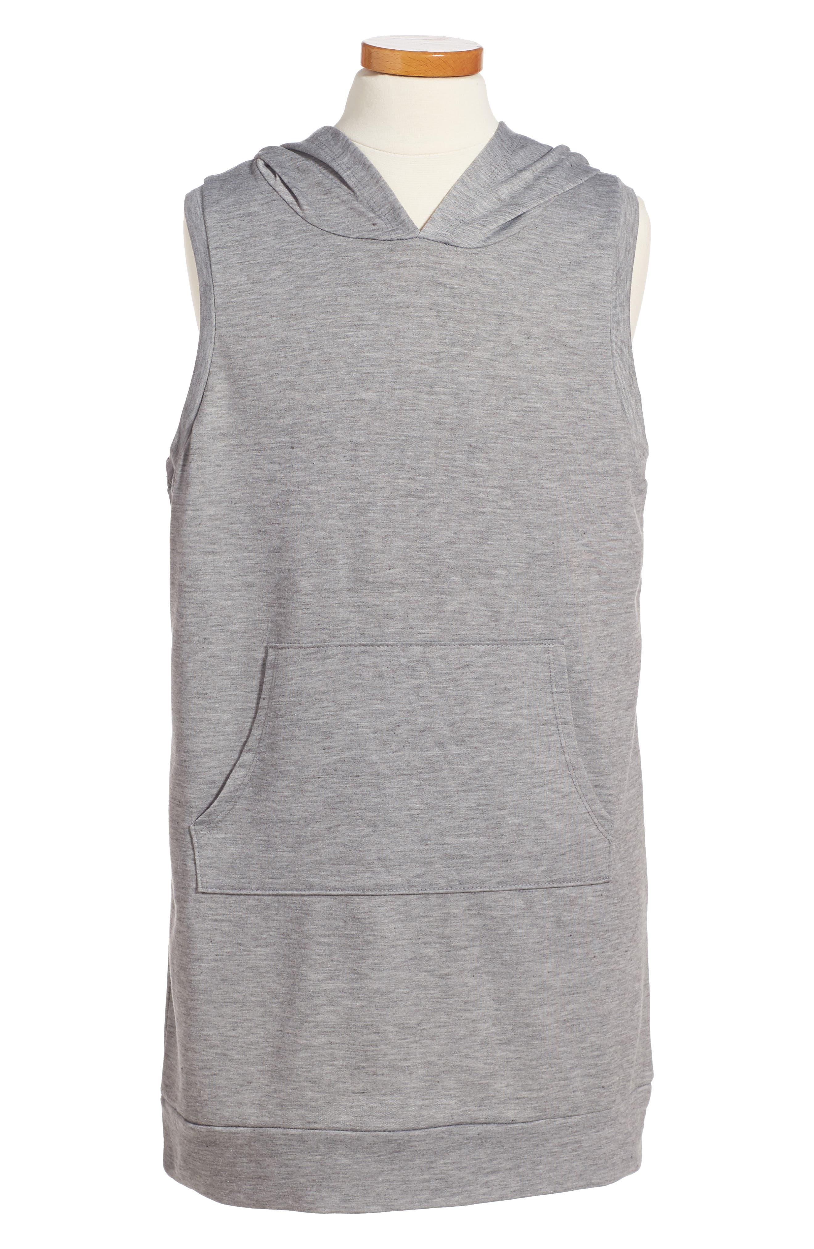 Hoodie Dress,                         Main,                         color, Heather Grey