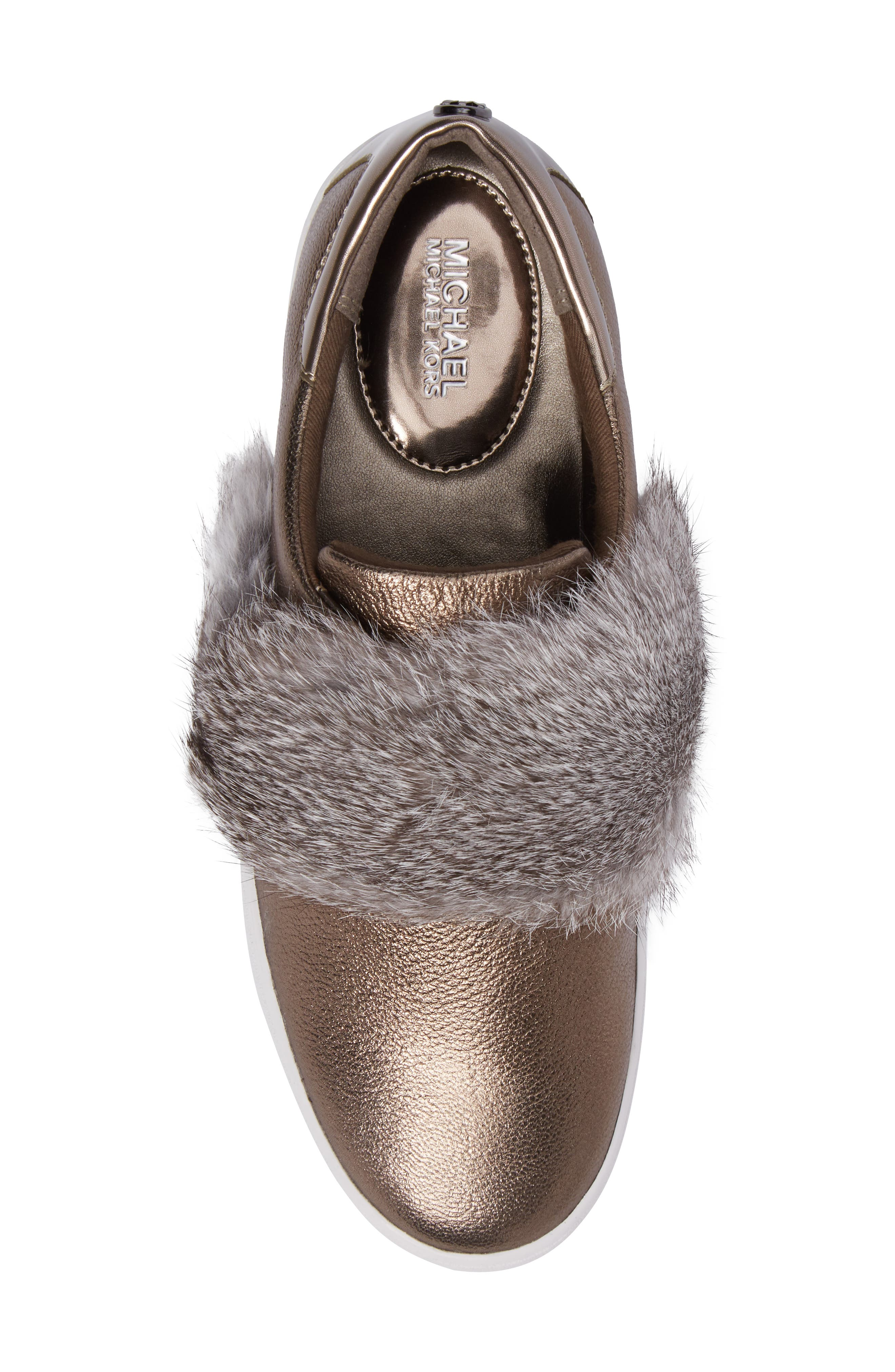 Alternate Image 5  - MICHAEL Michael Kors Maven Genuine Rabbit Fur Sneaker (Women)