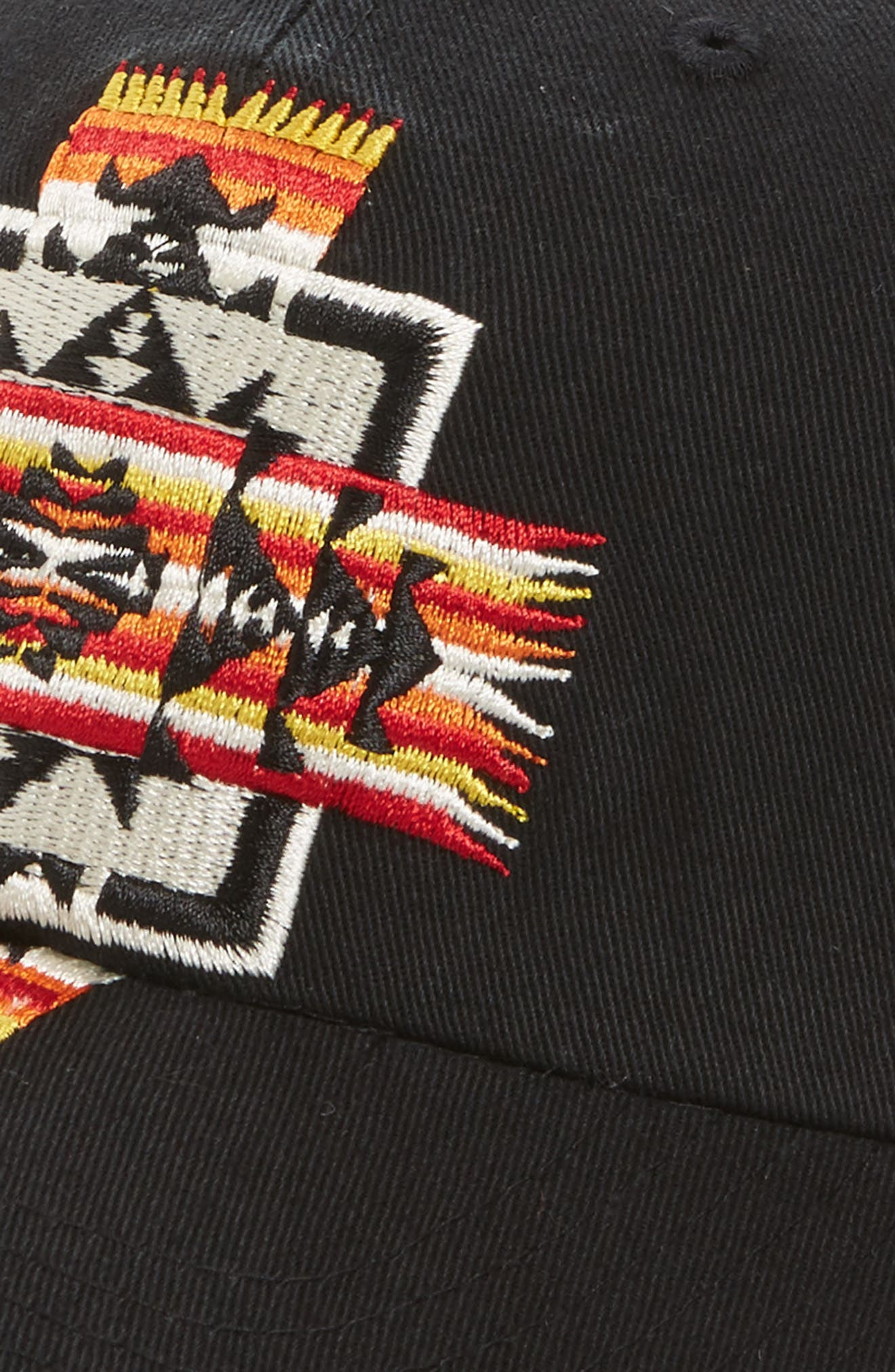Embroidered Ball Cap,                             Alternate thumbnail 3, color,                             Chief Jo Black