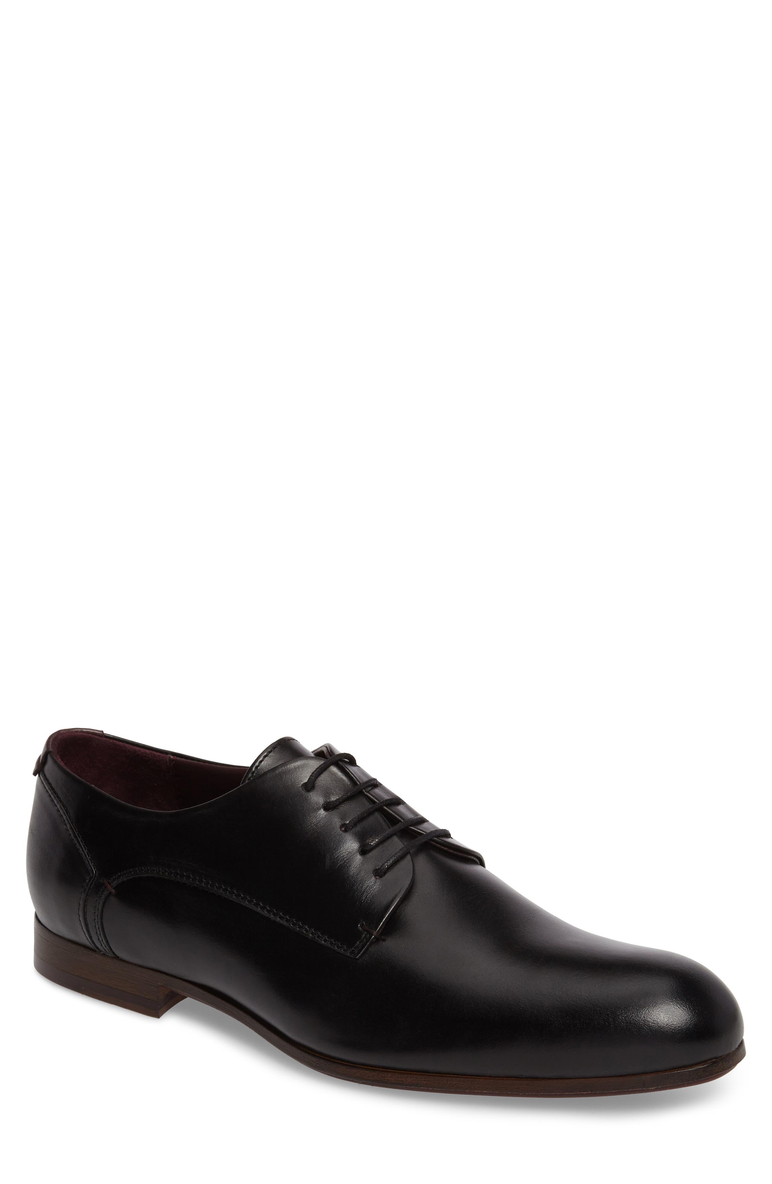Avionn Plain Toe Derby,                             Main thumbnail 1, color,                             Black Leather